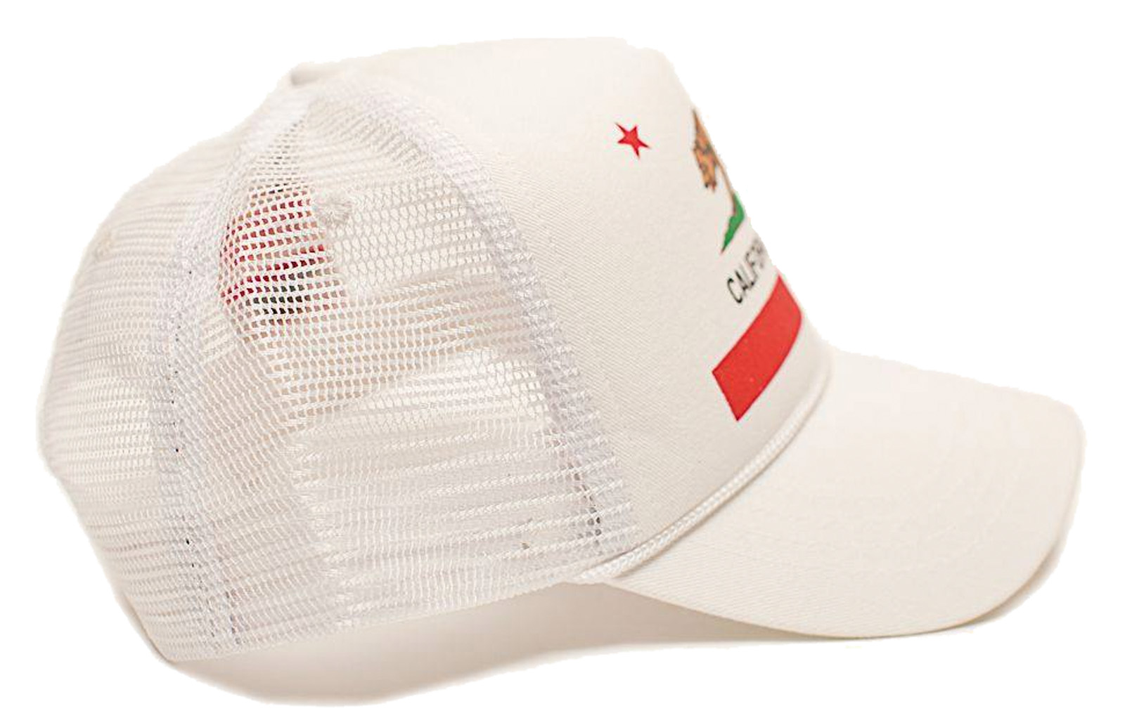RETRO TRUCKER CAP  CALIFORNIA REPUBLIC FLAG  KALIFORNIEN CALI LOVE ... 418412c3804e