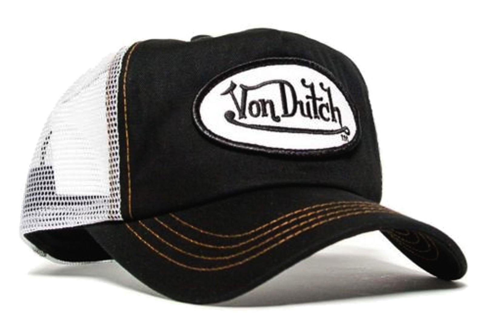 Von Dutch - Classic Black/White Mesh Trucker Cap