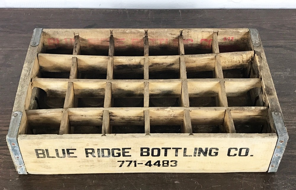 Original Soda Crate - Blue Ridge Bottling Co. Getränkekiste