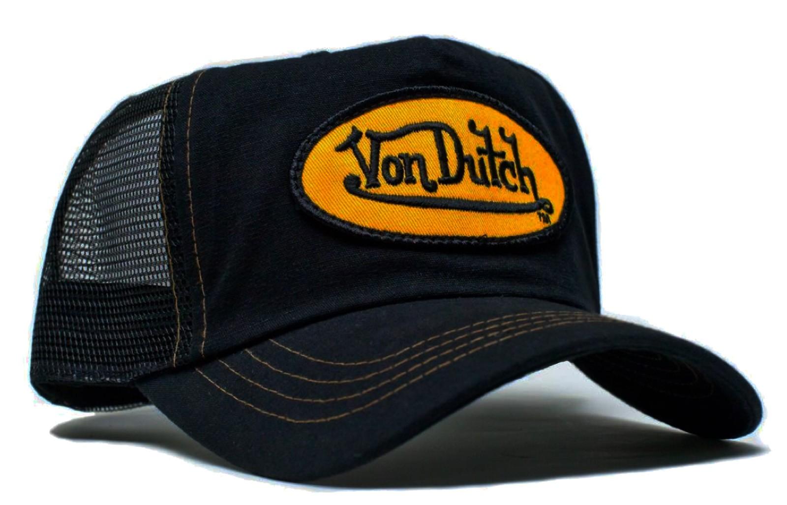 Von Dutch - Classic Black/Yellow Patch Mesh Trucker Cap