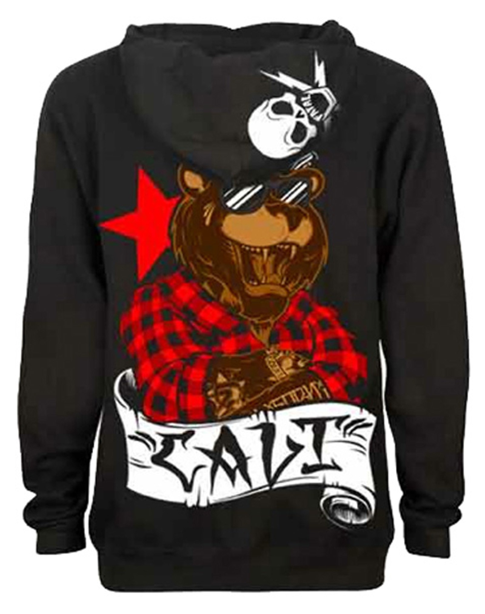 Fatal Clothing - Cali Bear Zipper Hoodie Back