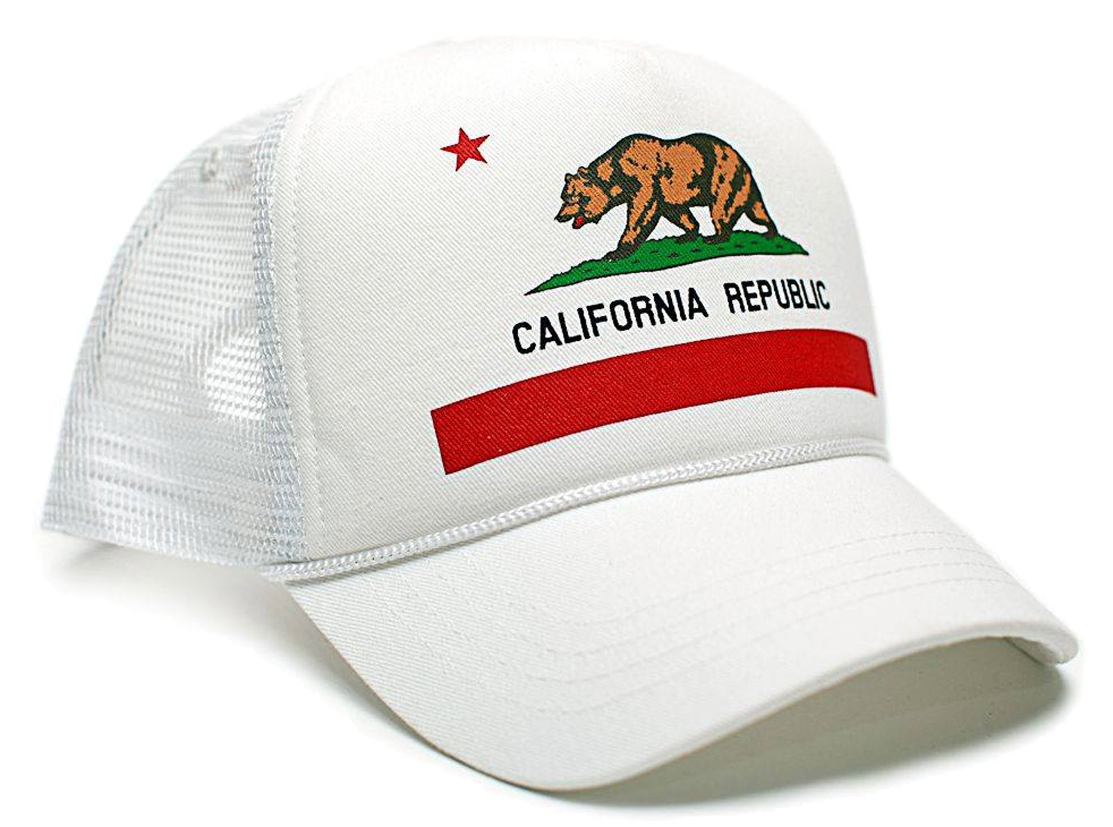 Retro Cap - California Flag Trucker Cap