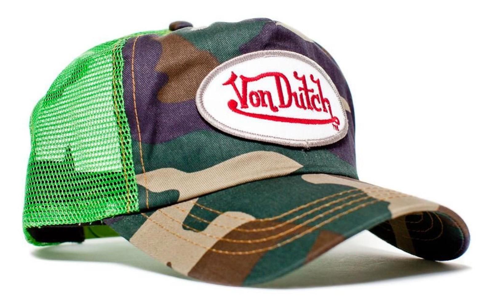 Von Dutch - Camouflage/Camo Mesh Trucker Cap