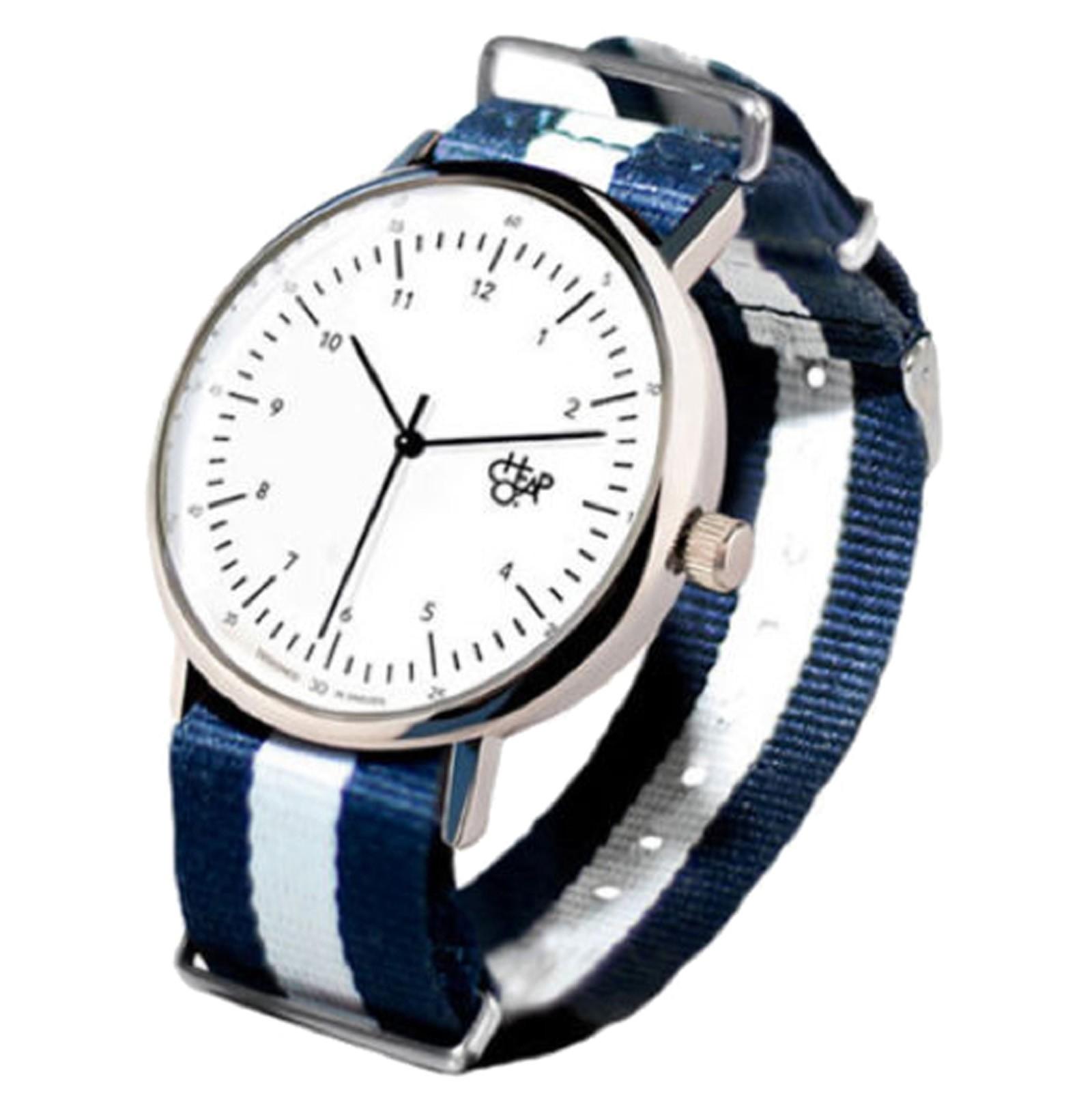 Cheapo Brand - Harold White Dial Navy/White Strap Armbanduhr
