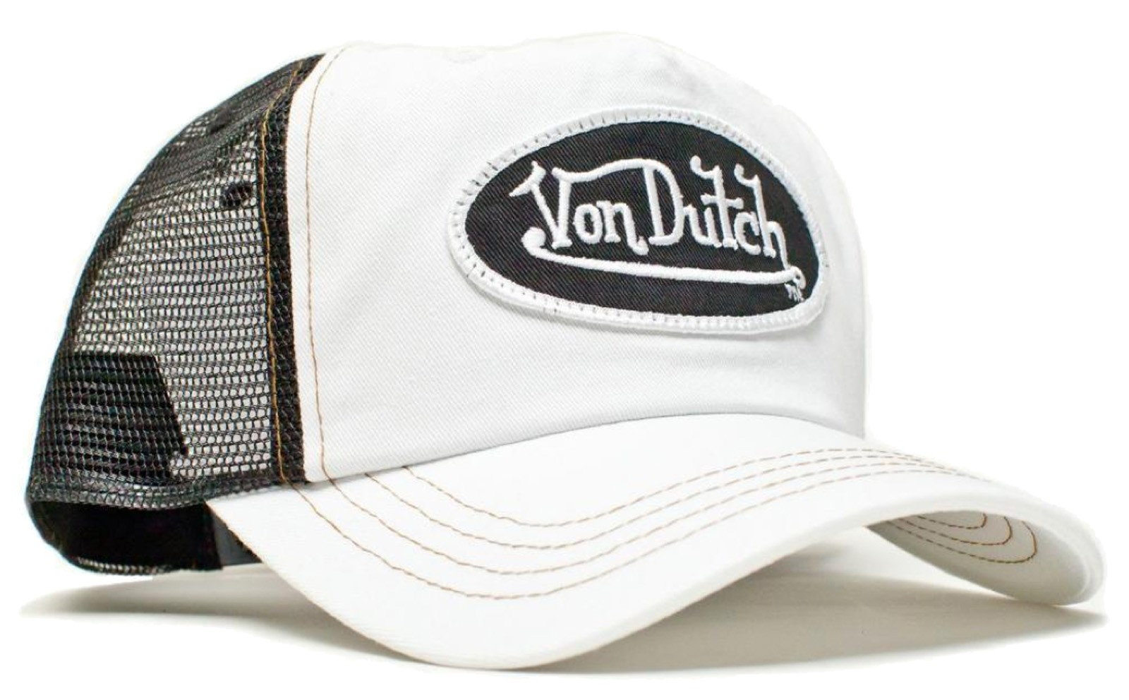 Von Dutch - Classic White/Black Mesh Trucker Cap