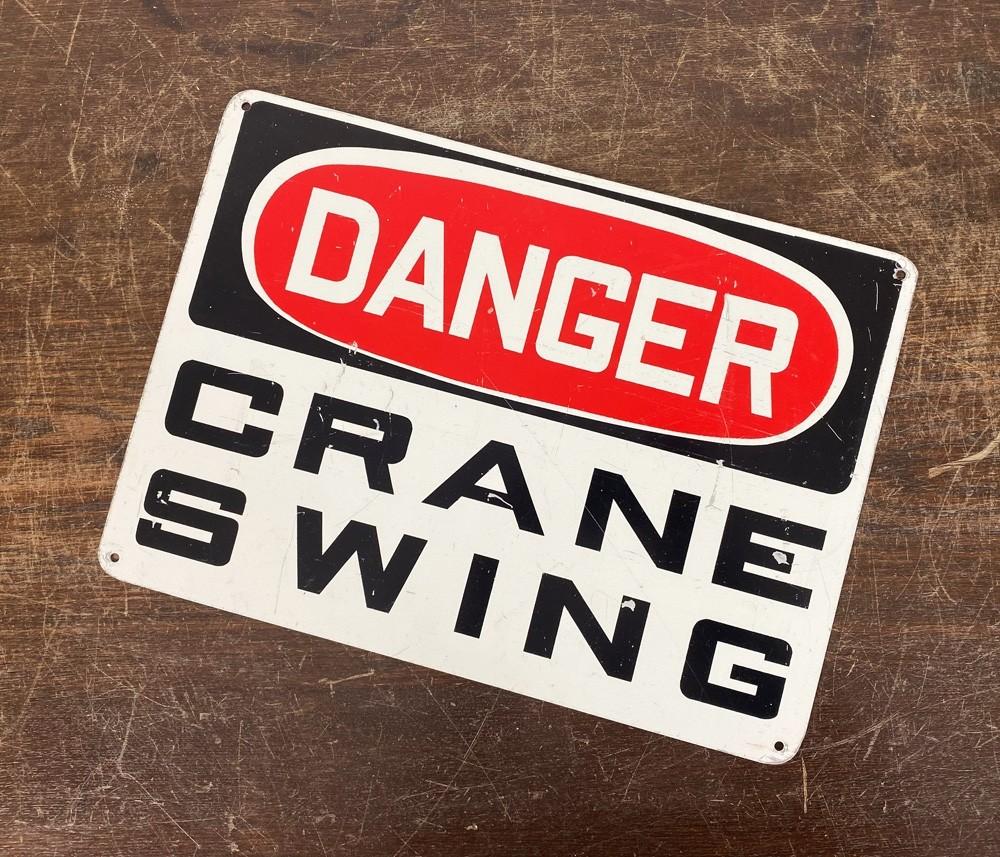 Original USA Schild - Danger Craine Swing Blechschild