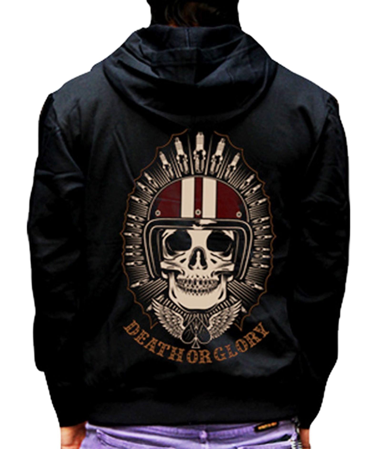 La Marca Del Diablo - Death Glory Zipper Hoodie Front