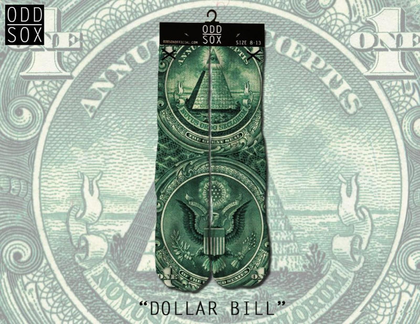 ODD Sox - Dollar Bill Socken Front