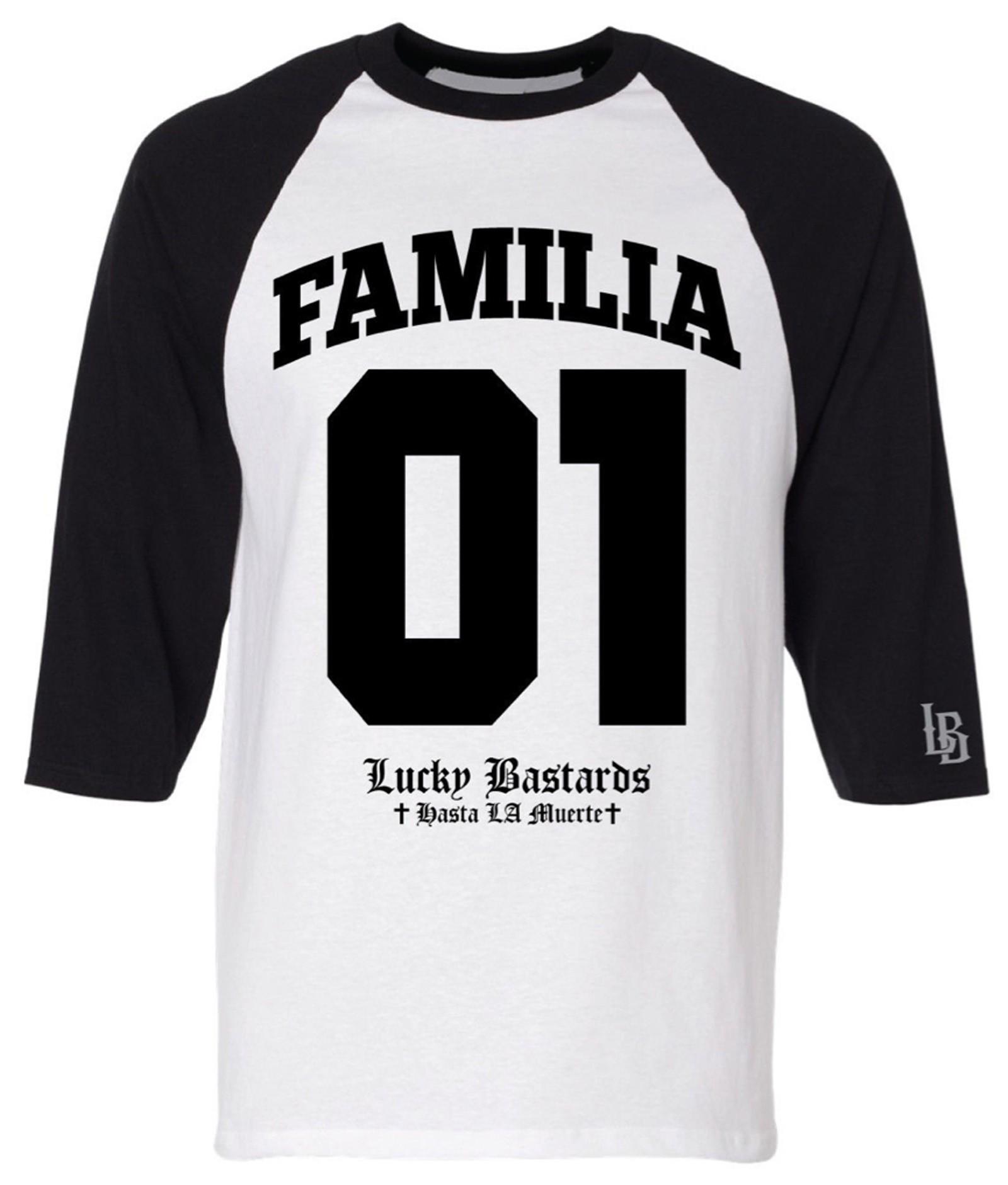 Lucky Bastards - Familia 01 Ranglan T-Shirt Front