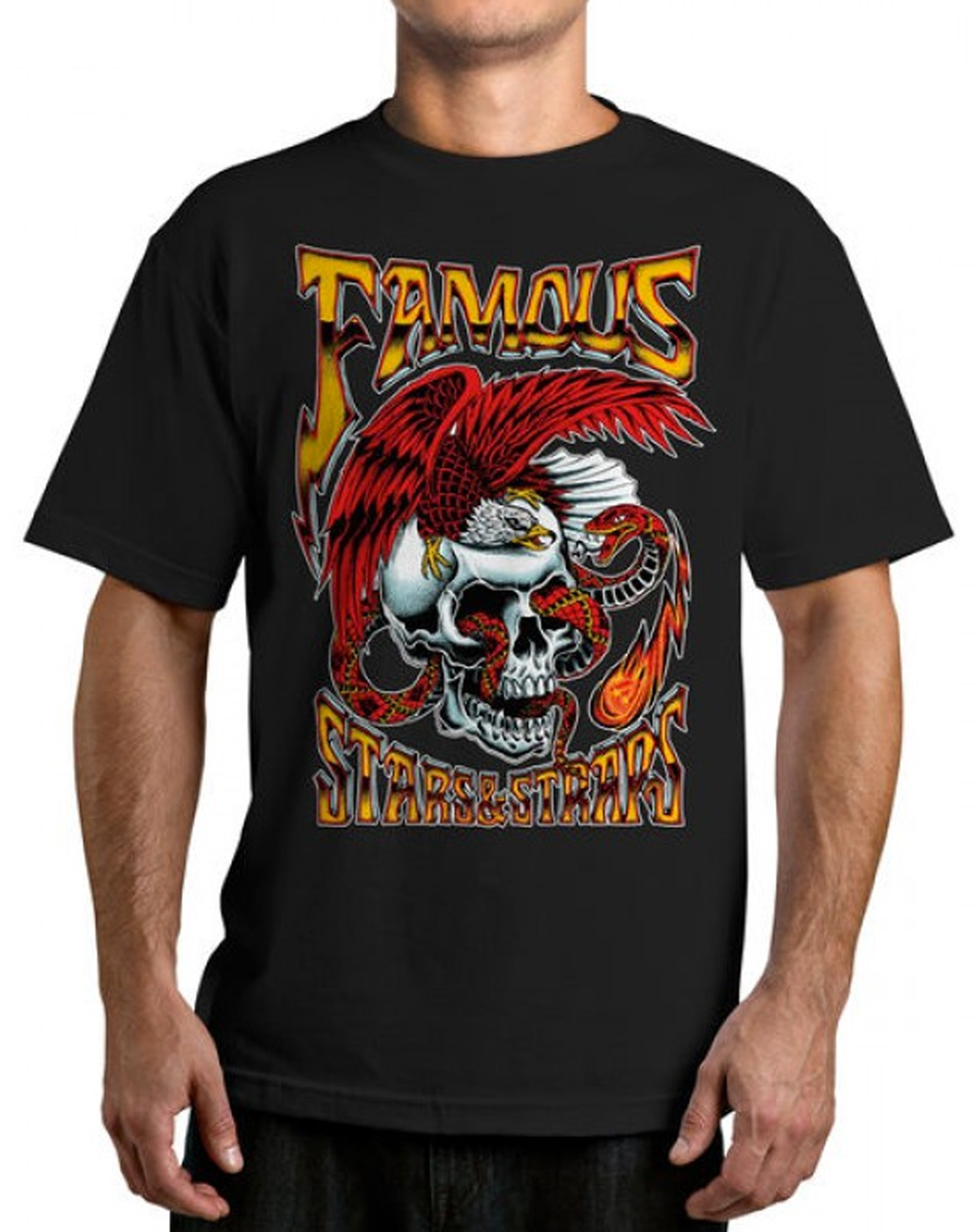 Famous Stars and Straps - Lightning Strike T-Shirt