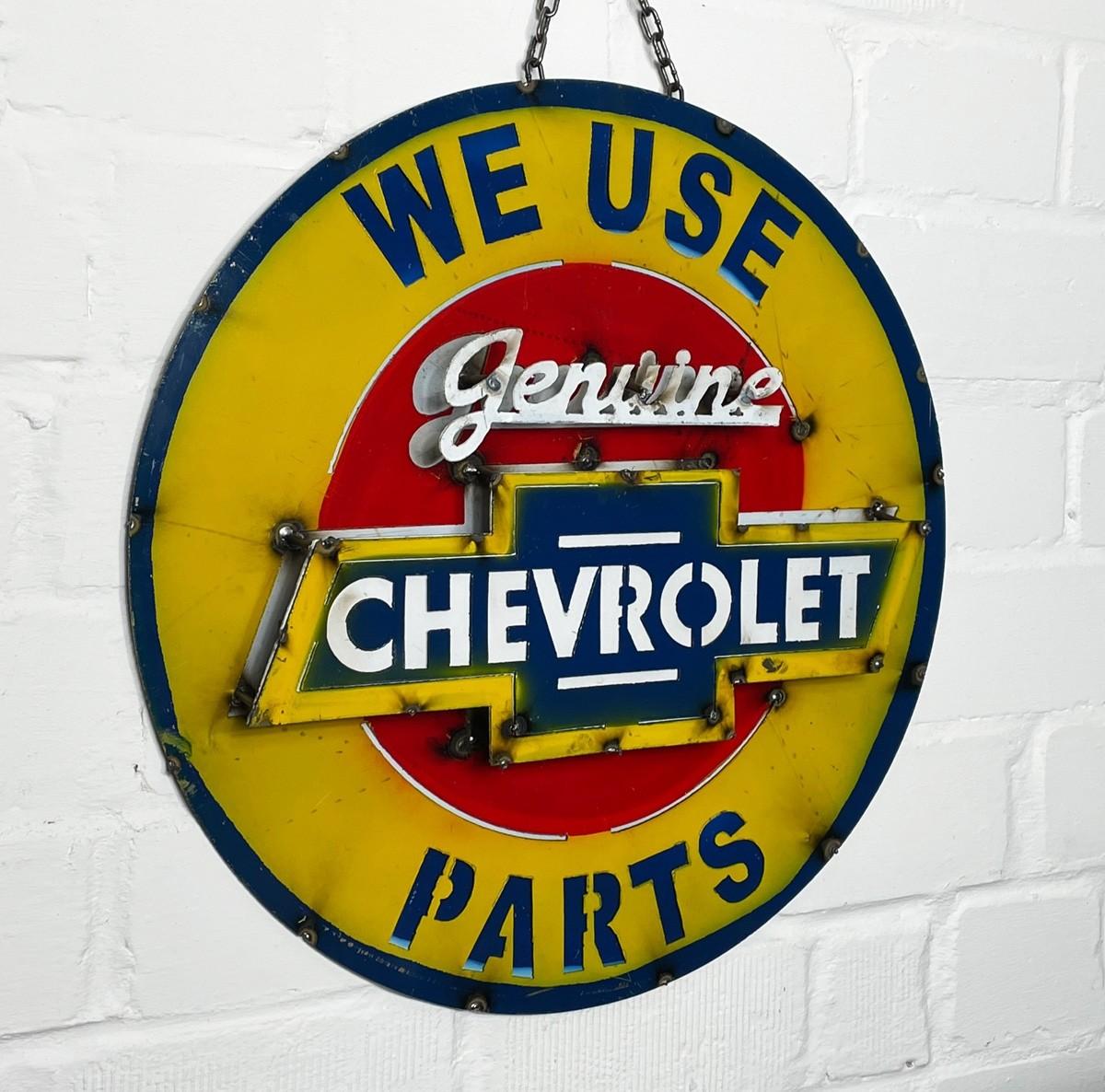 We Use Genuine Chevrolet Parts 3D Schild