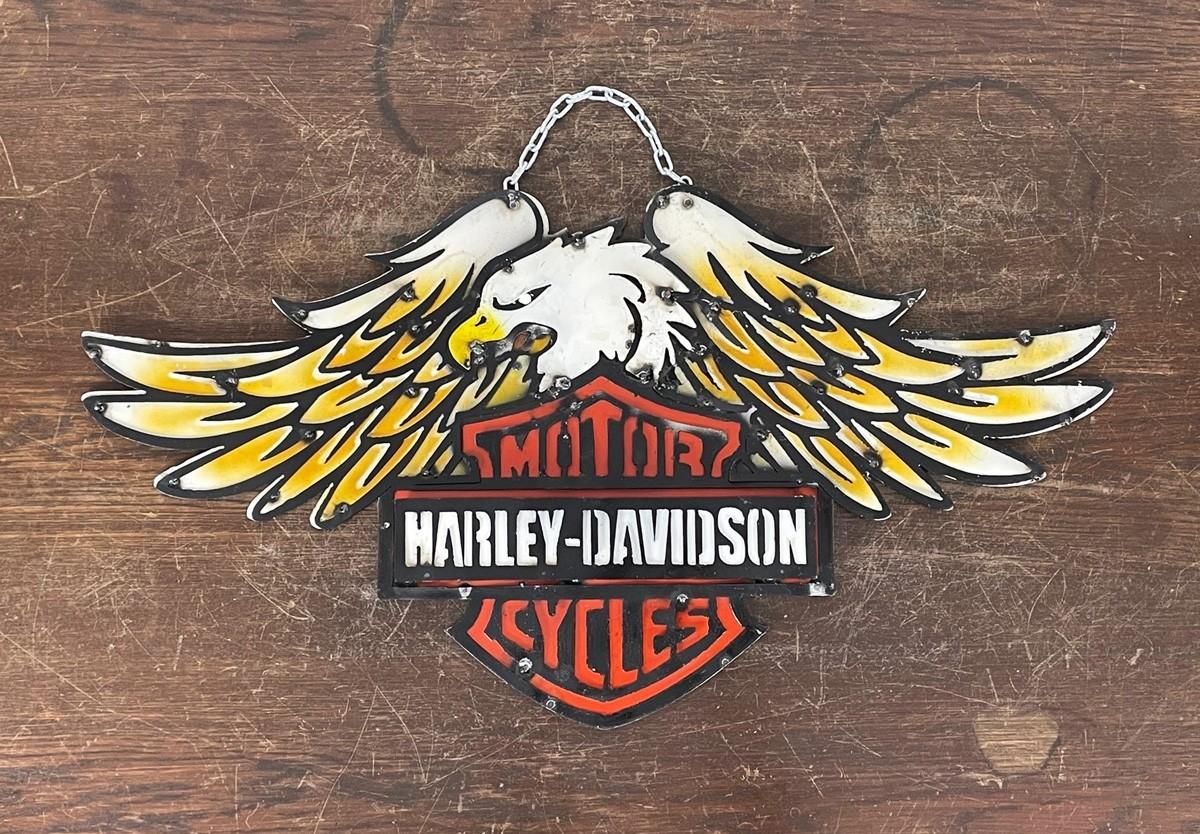 Harley Davidson Eagle Wings 3D Schild