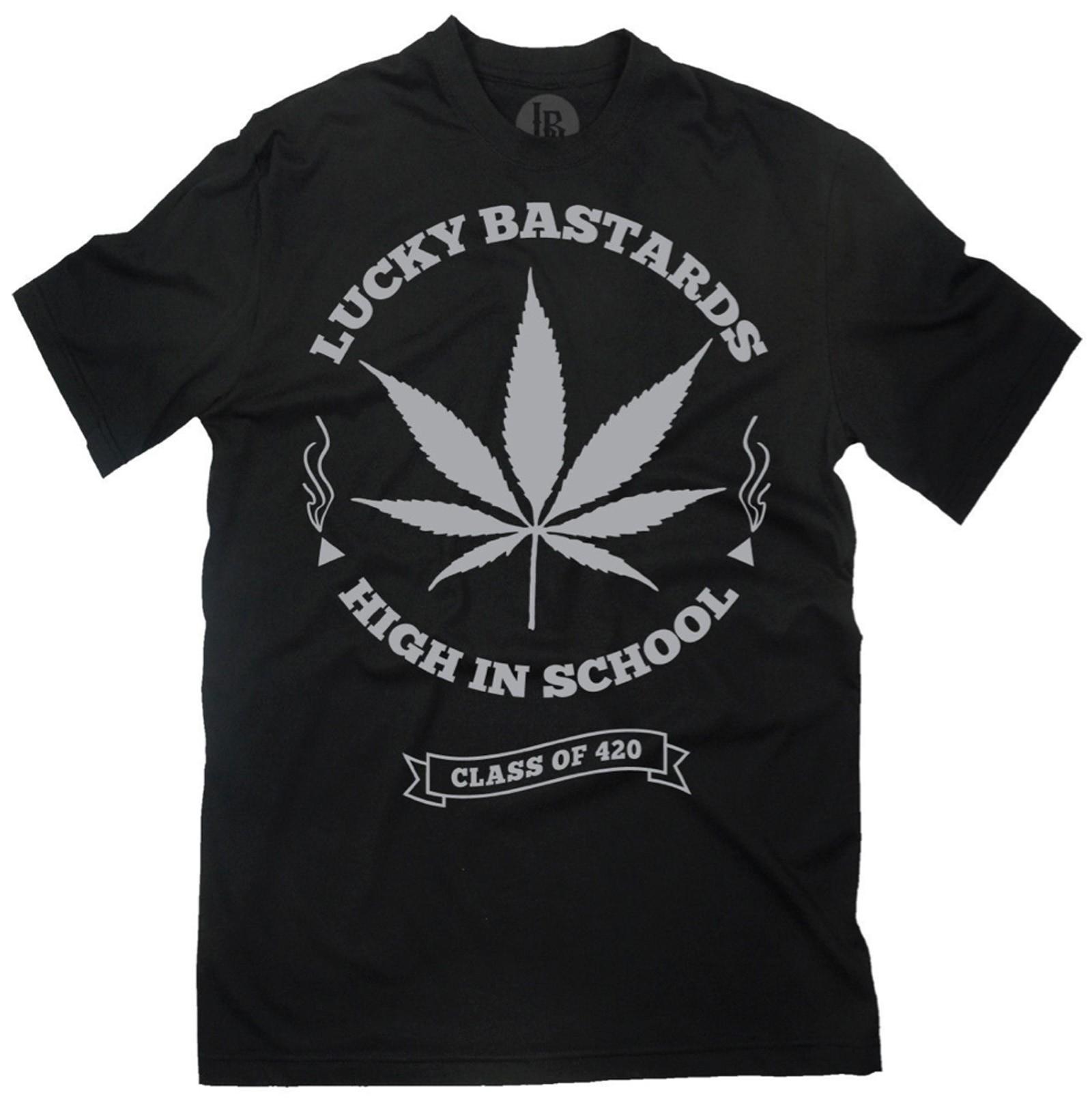 Lucky Bastards - High in Class T-Shirt Front