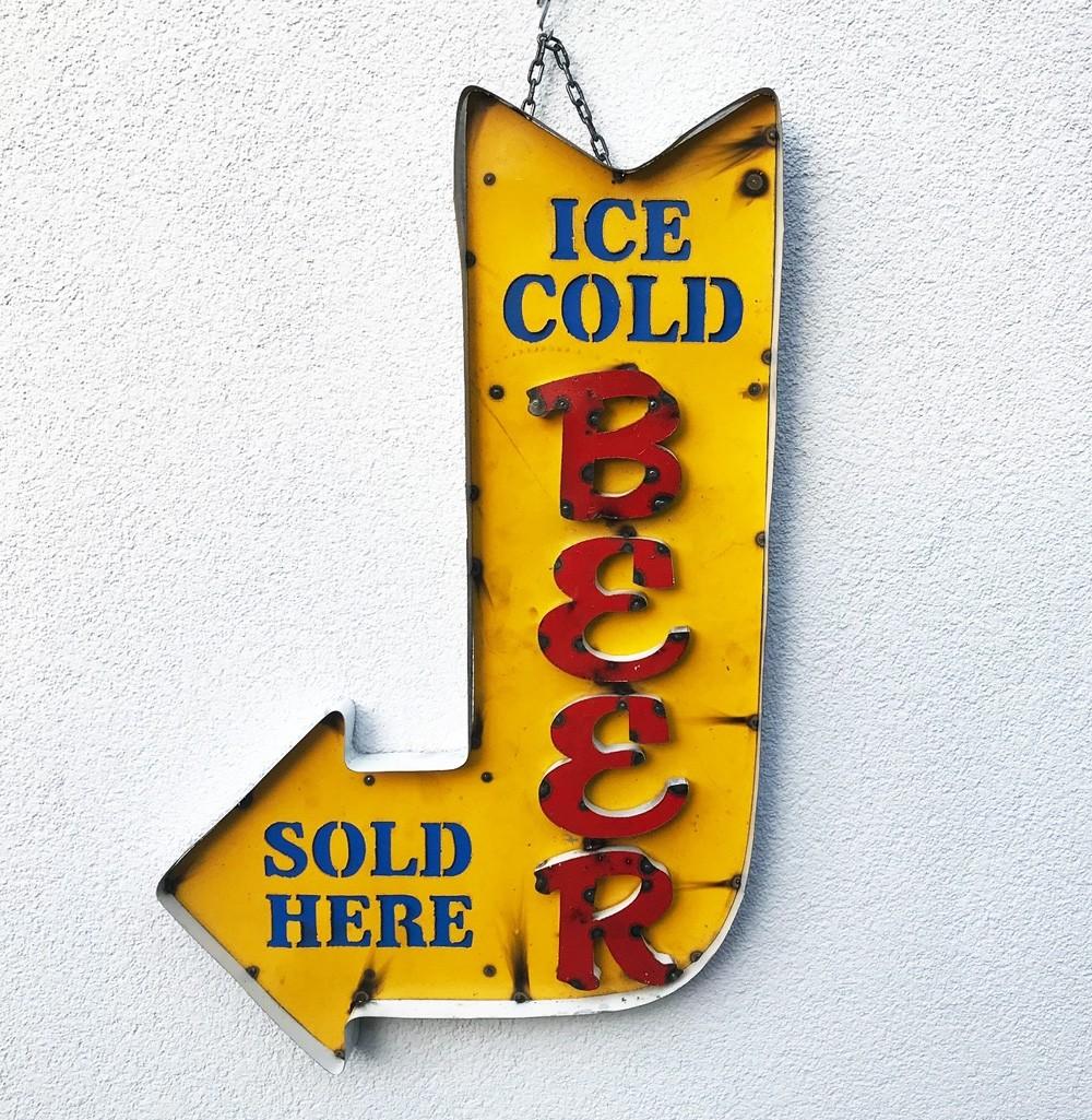 Ice Cold Beer Arrow XXL 3D Schild