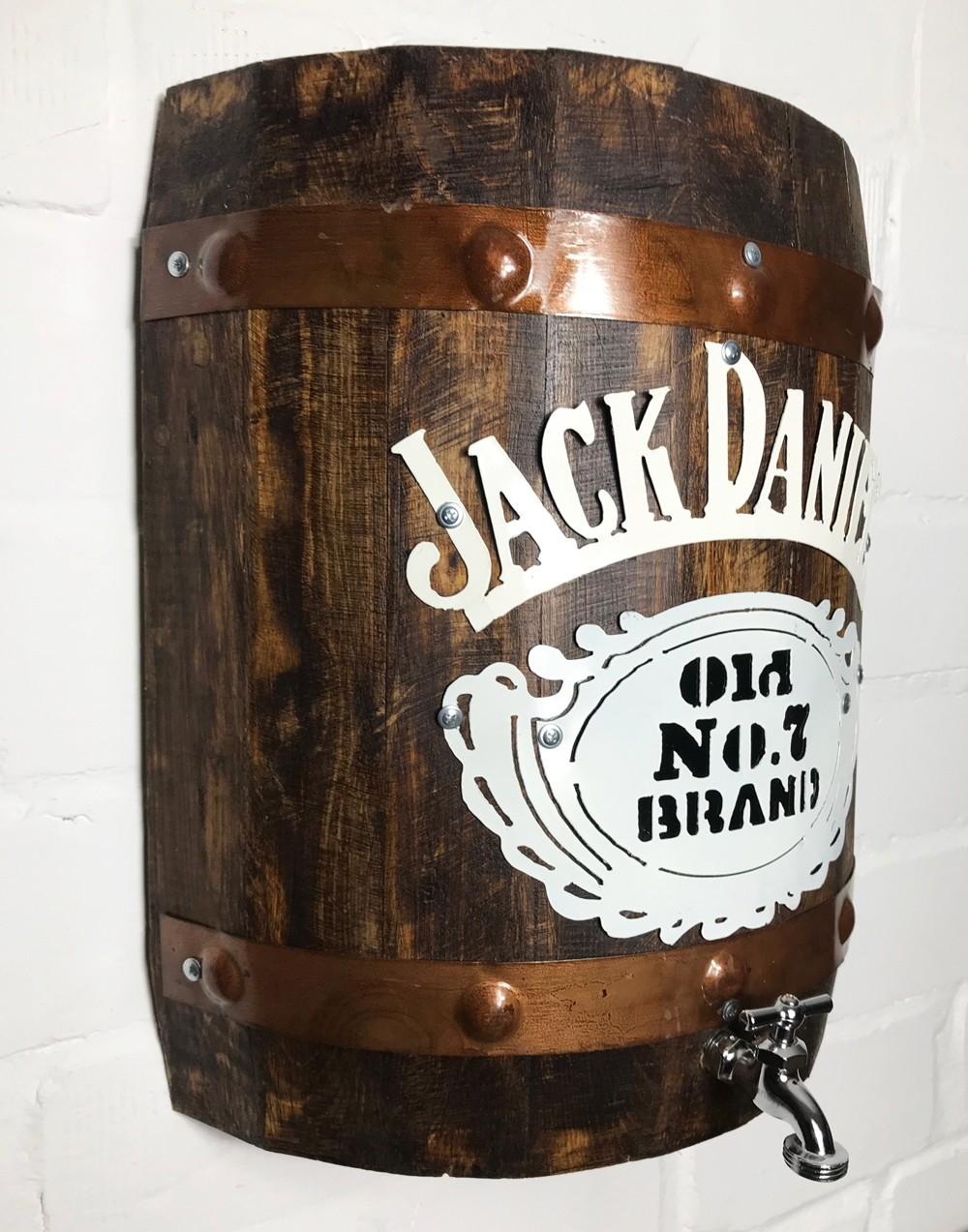 Jack Daniel Holzfass mit Zapfhahn