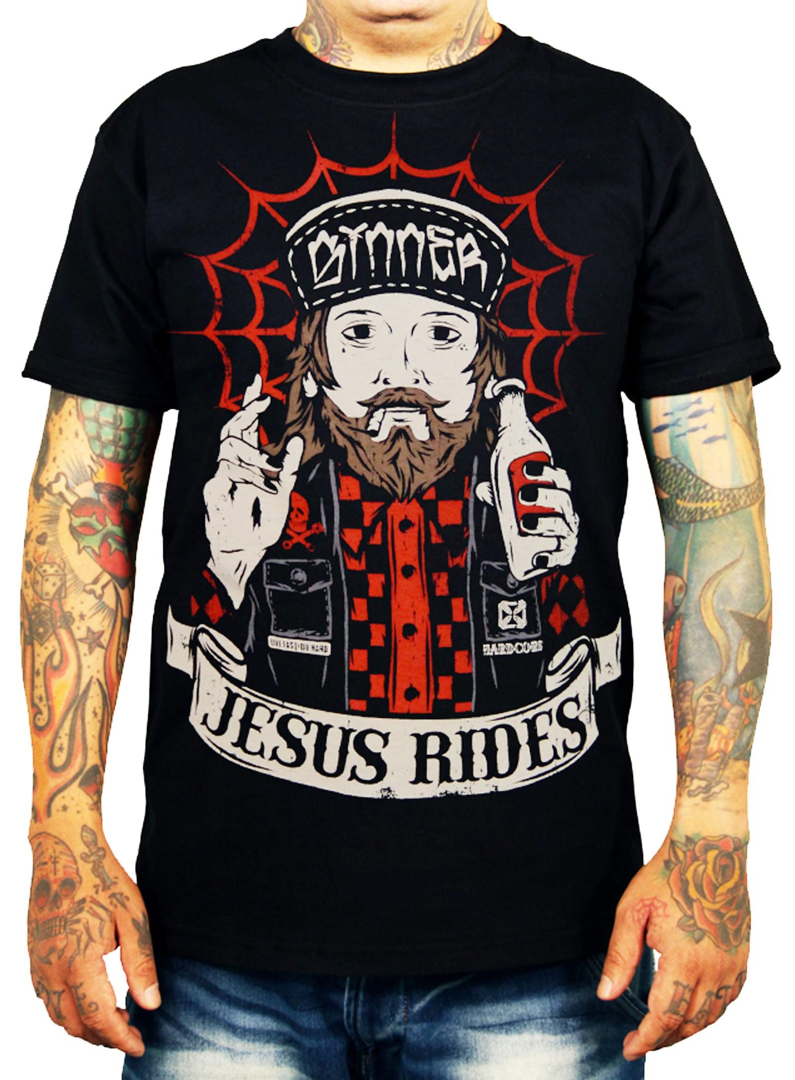 La Marca Del Diablo - Jesus Rides T-Shirt Front