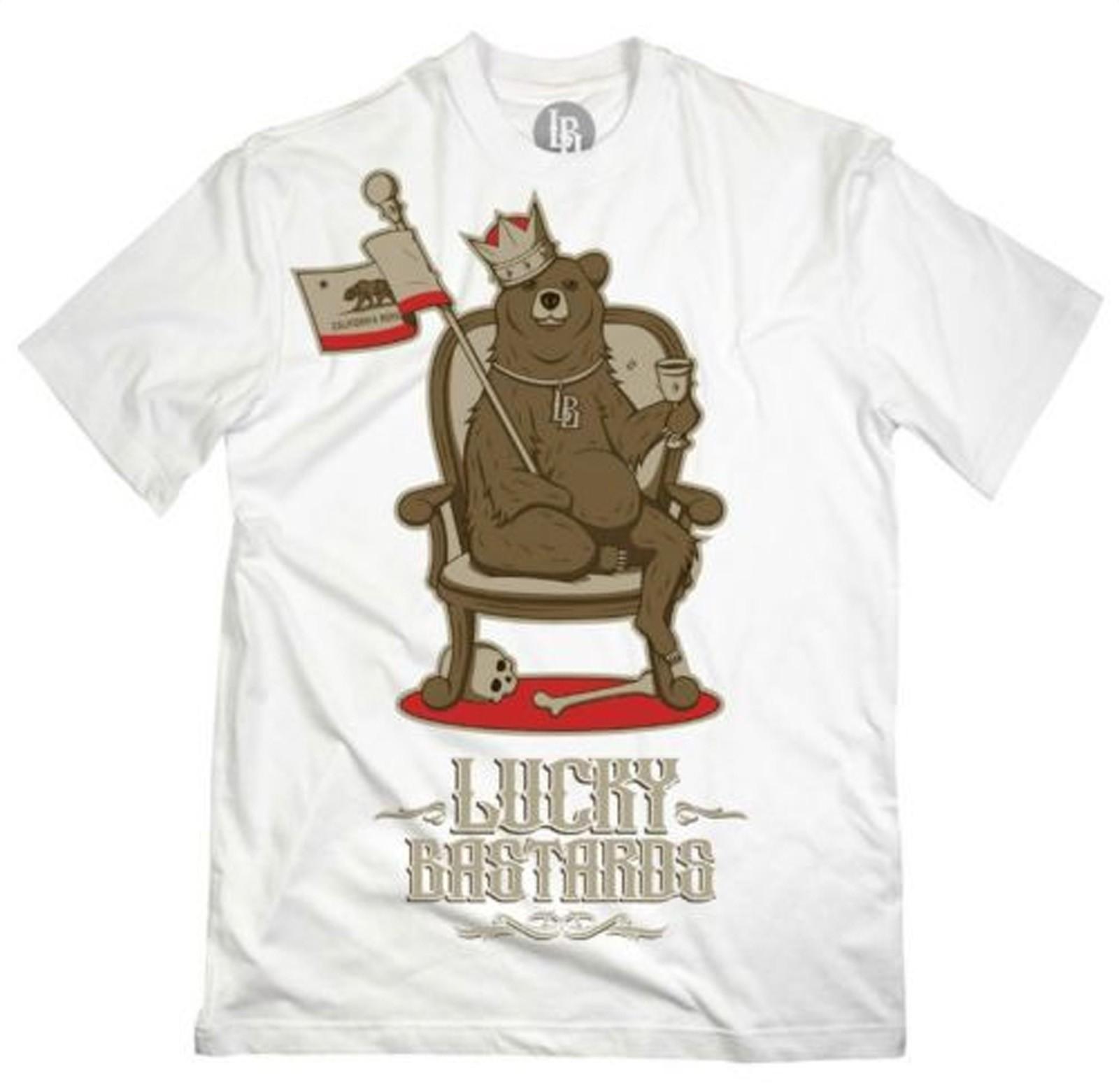 Lucky Bastards - King Cali Bear T-Shirt