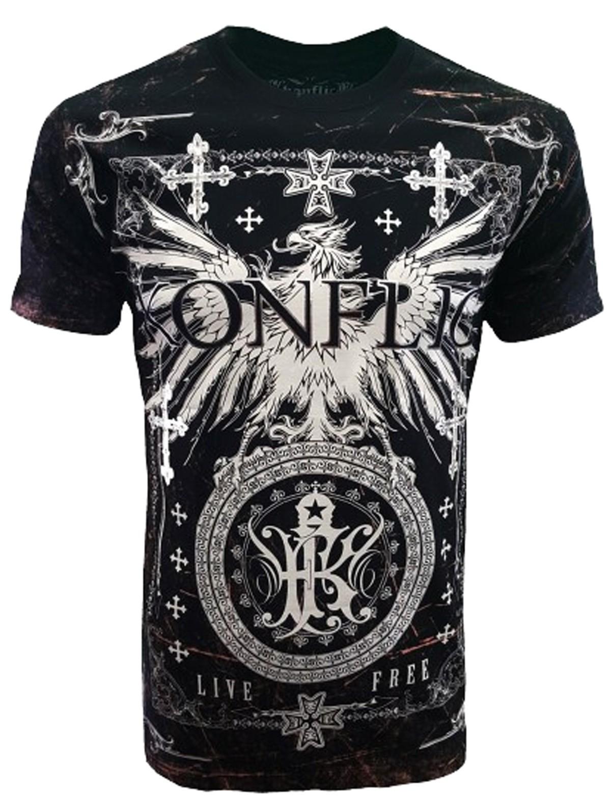 Konflic Clothing - Phoenix Motif T-Shirt