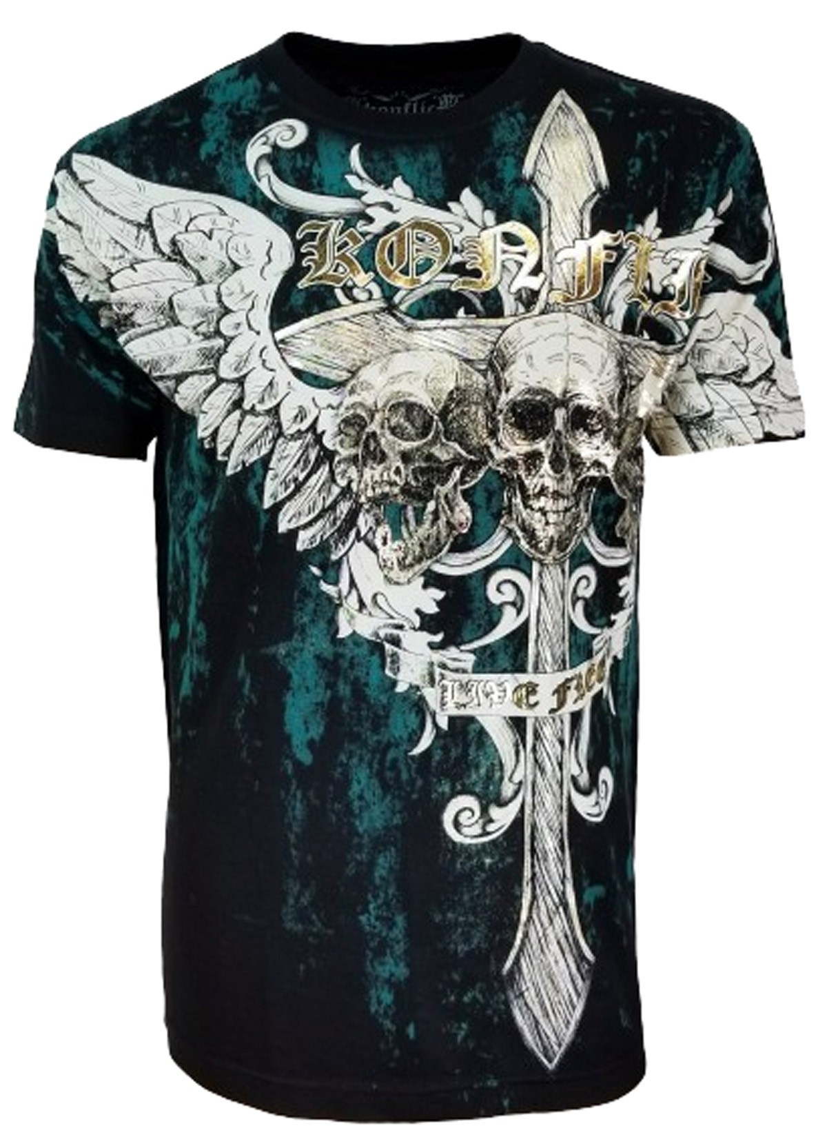 Konflic Clothing - Screaming Skulls T-Shirt