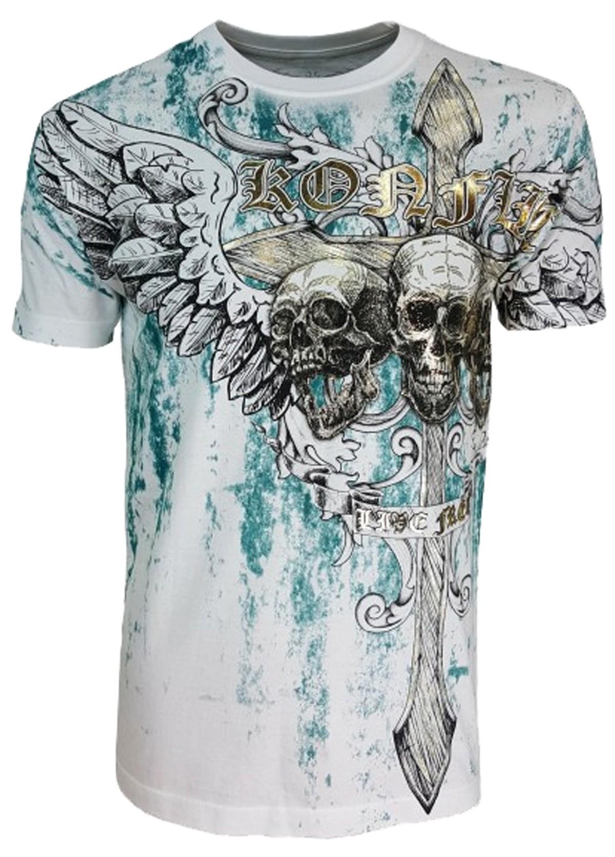 Konflic Clothing - Screaming Skulls T-Shirt