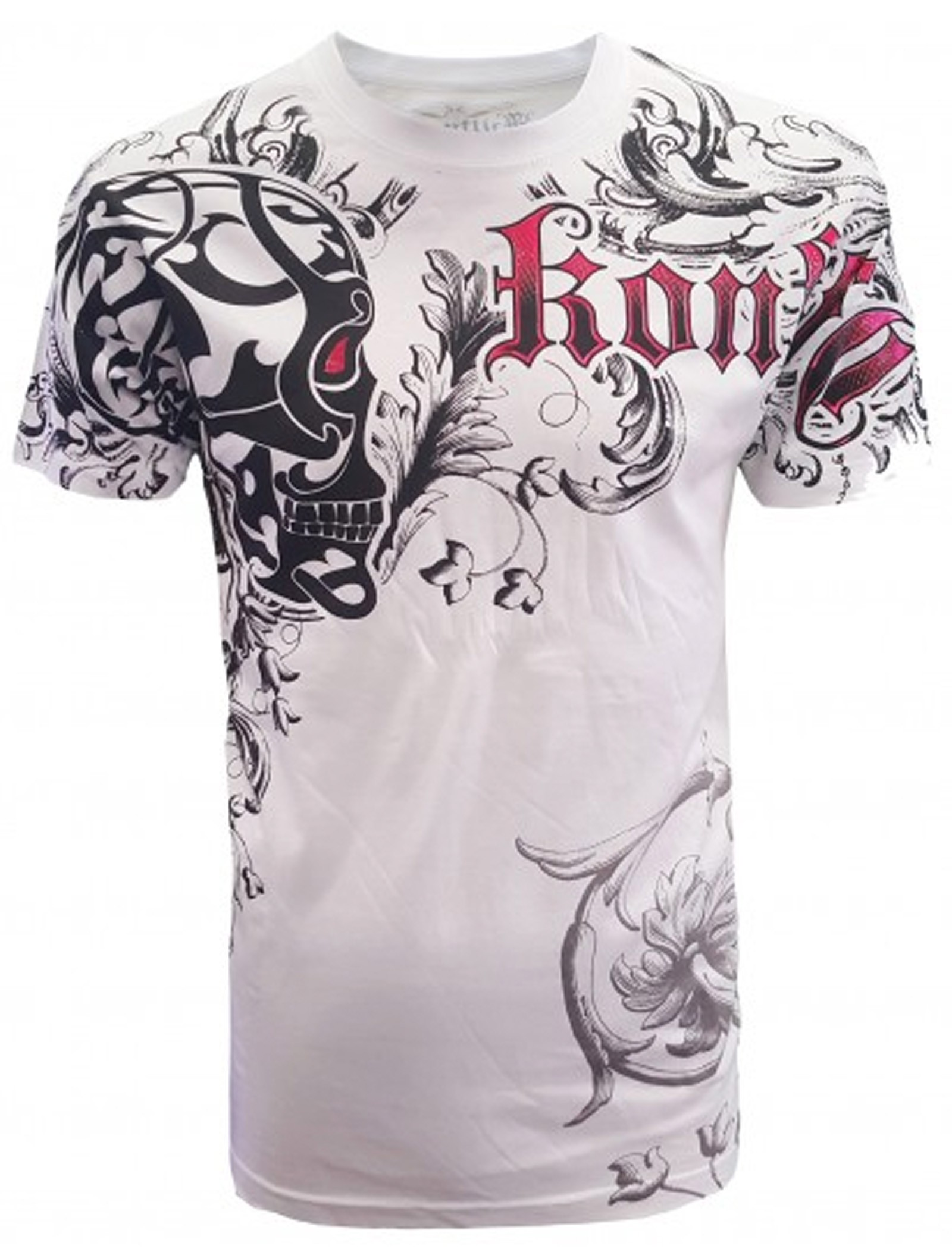 Konflic Clothing - Skull Shied T-Shirt Front