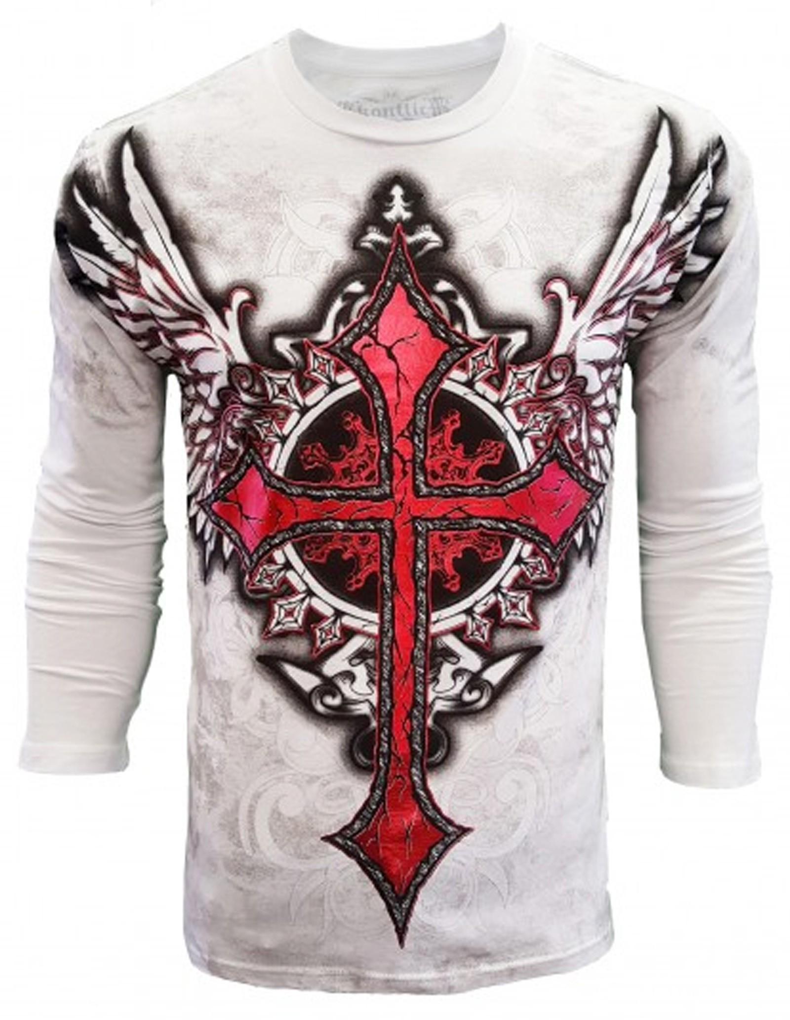 Konflic Clothing - Winged Cross Longsleeve T-Shirt