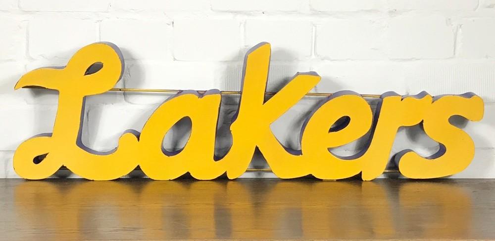 Lakers XXL 3D Schild