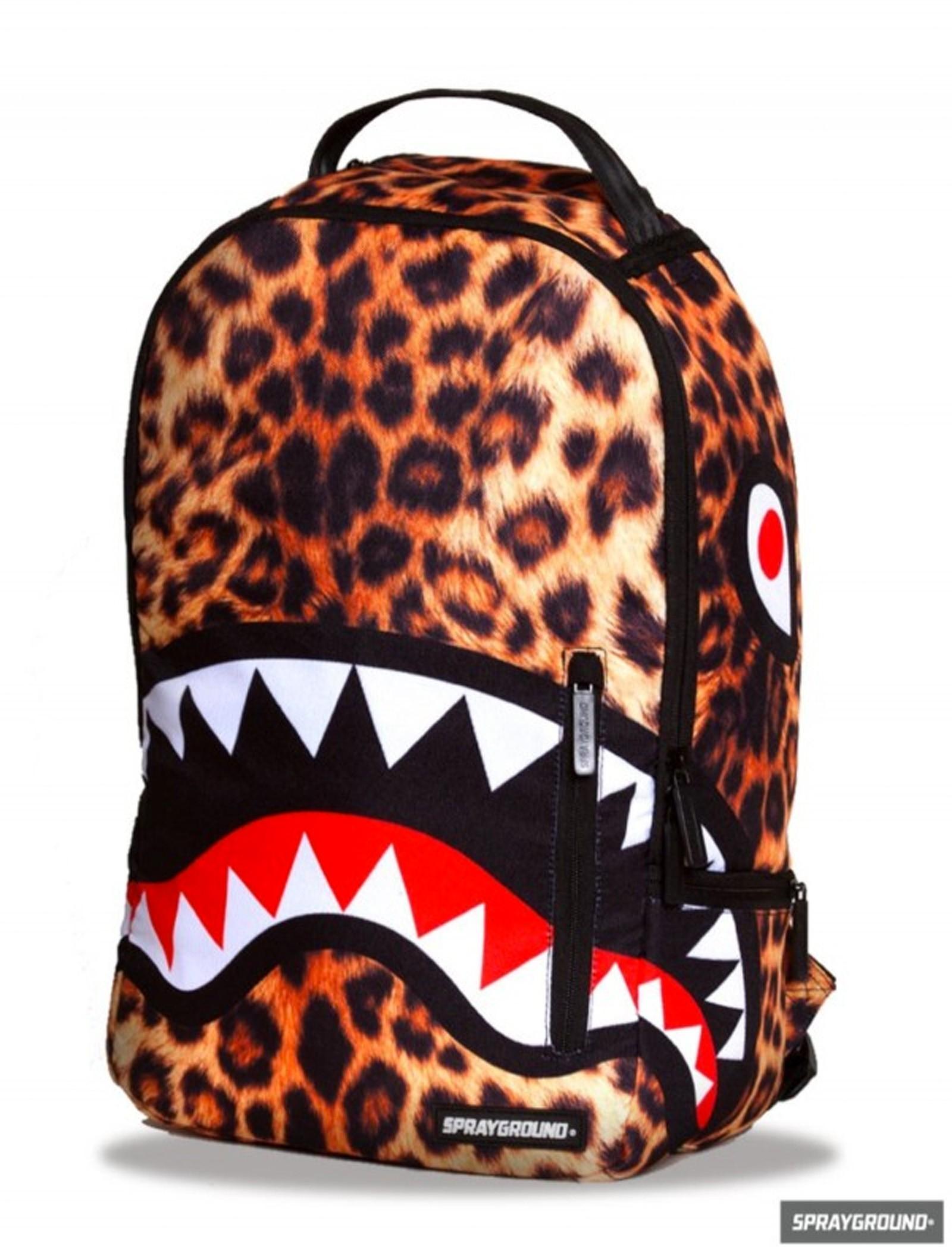 Sprayground Leopard Shark Rucksack Front