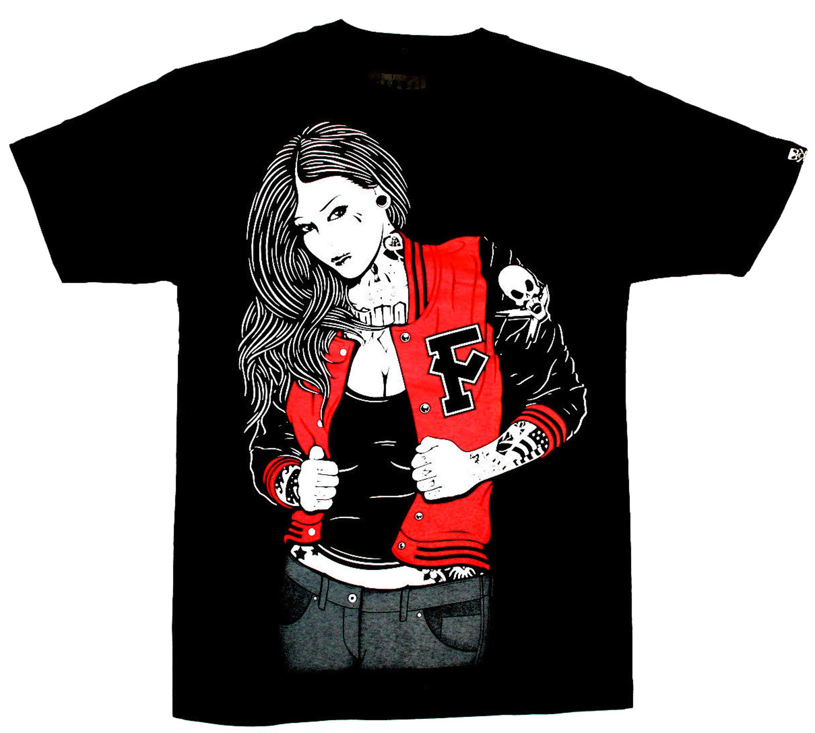 Fatal Clothing - Letterman T-Shirt Front