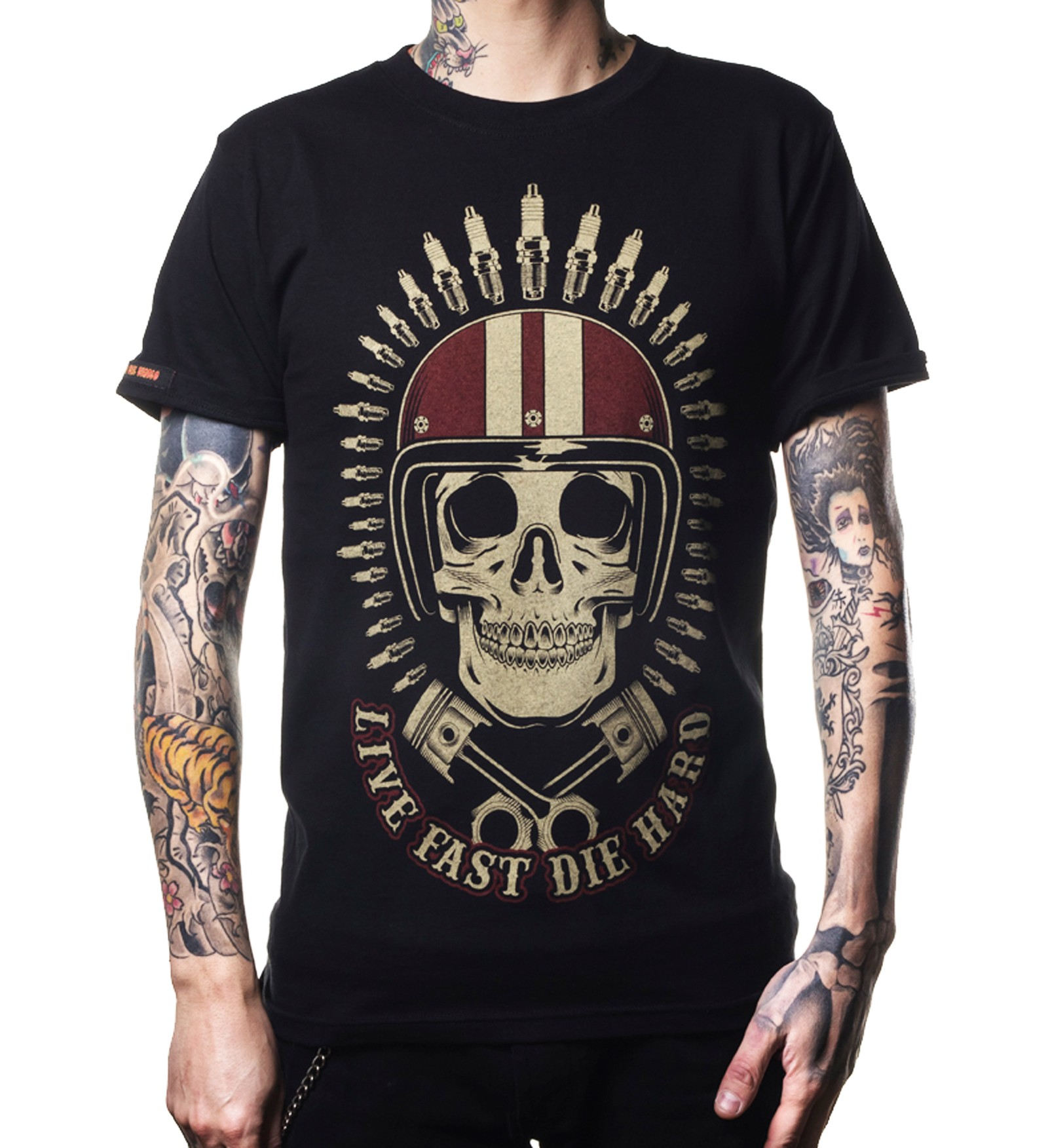 La Marca Del Diablo - Live Fast & Die Hard Skull T-Shirt Front