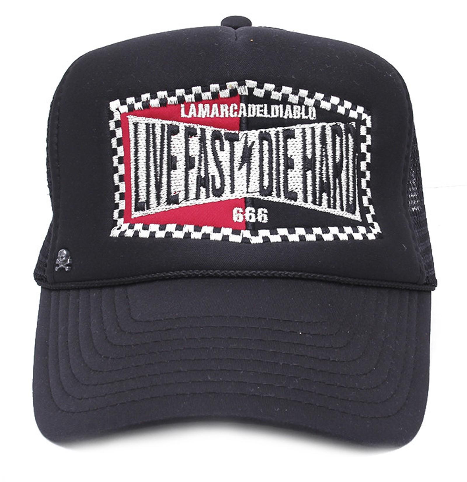 La Marca Del Diablo - Live Fast & Die Hard Trucker Cap Front