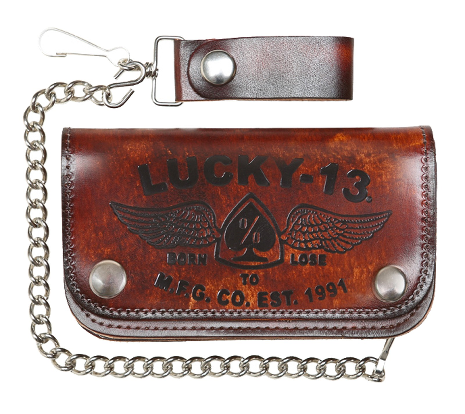 Lucky 13 - Garage Built Leather Wallet-Iron Horse