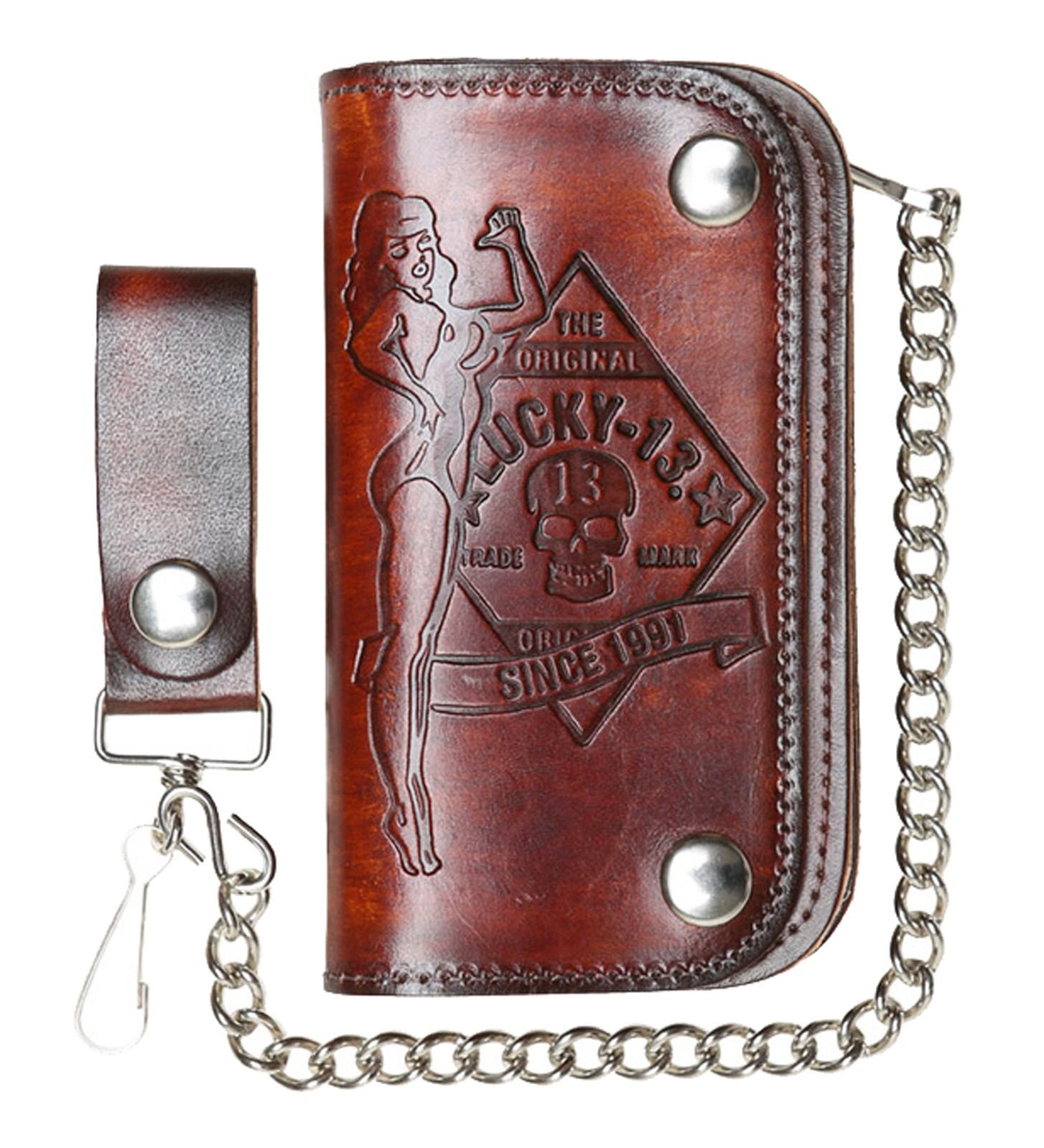 Lucky 13 - Garage Built Leather Wallet-No Riders