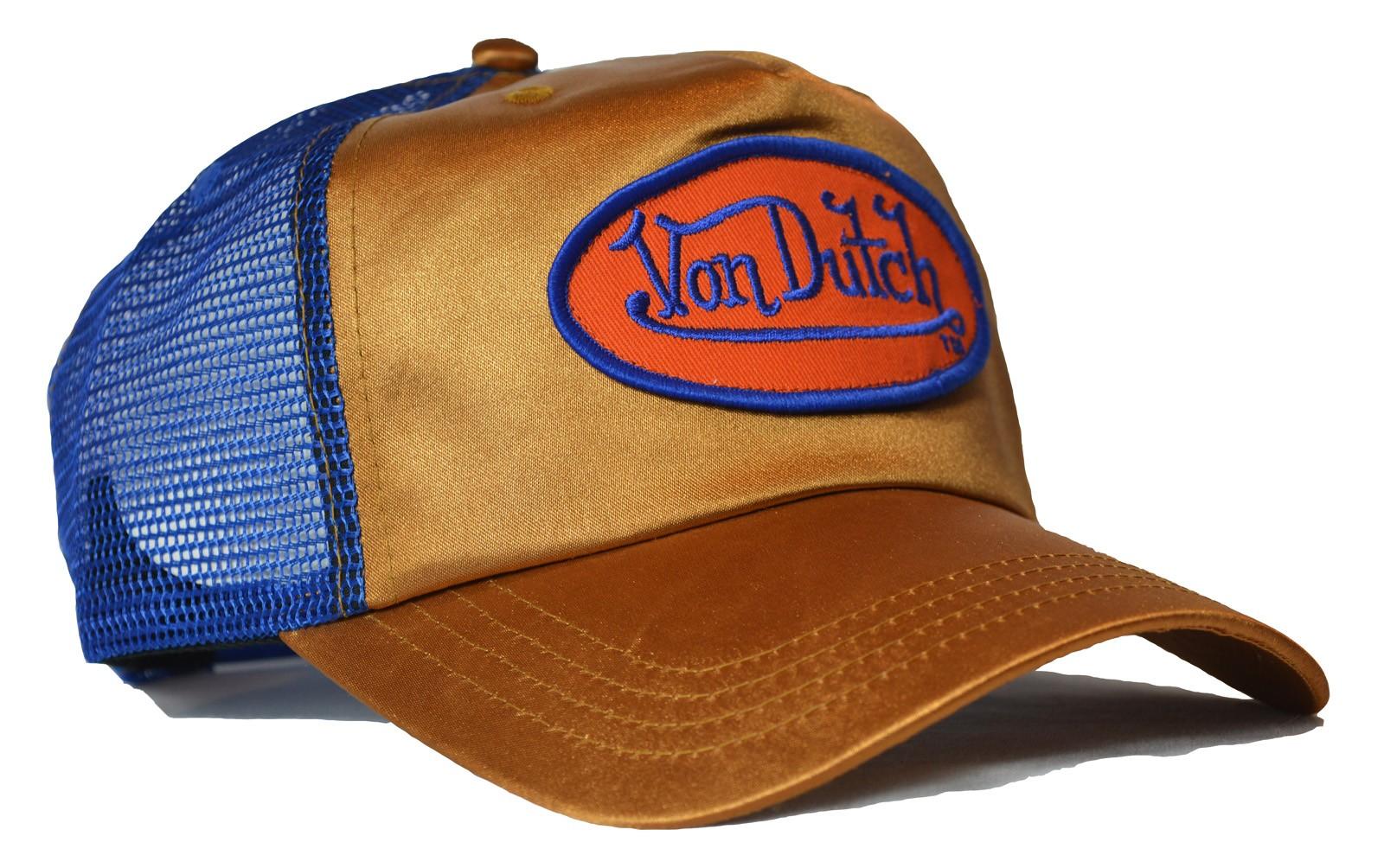 Von Dutch - Metallic Gold/Blue Trucker Cap