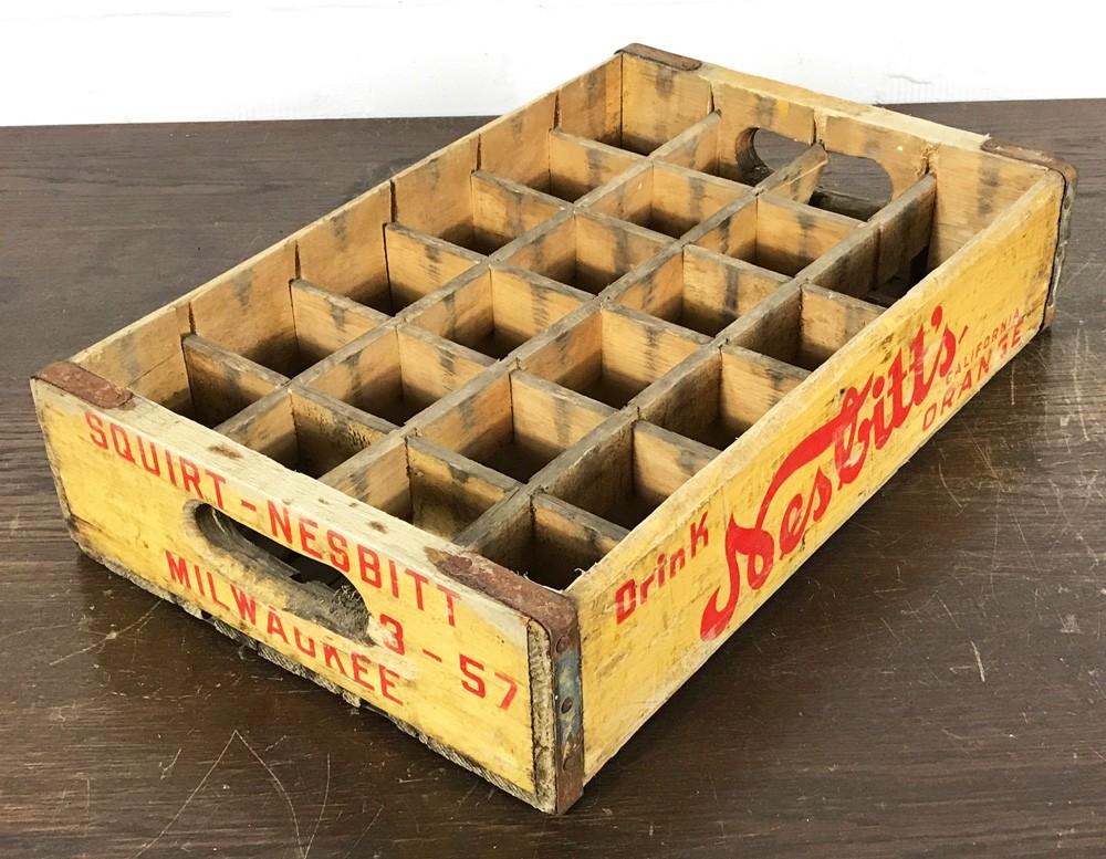 Original Soda Crate - Squirt/Nesbitts Getränkekiste