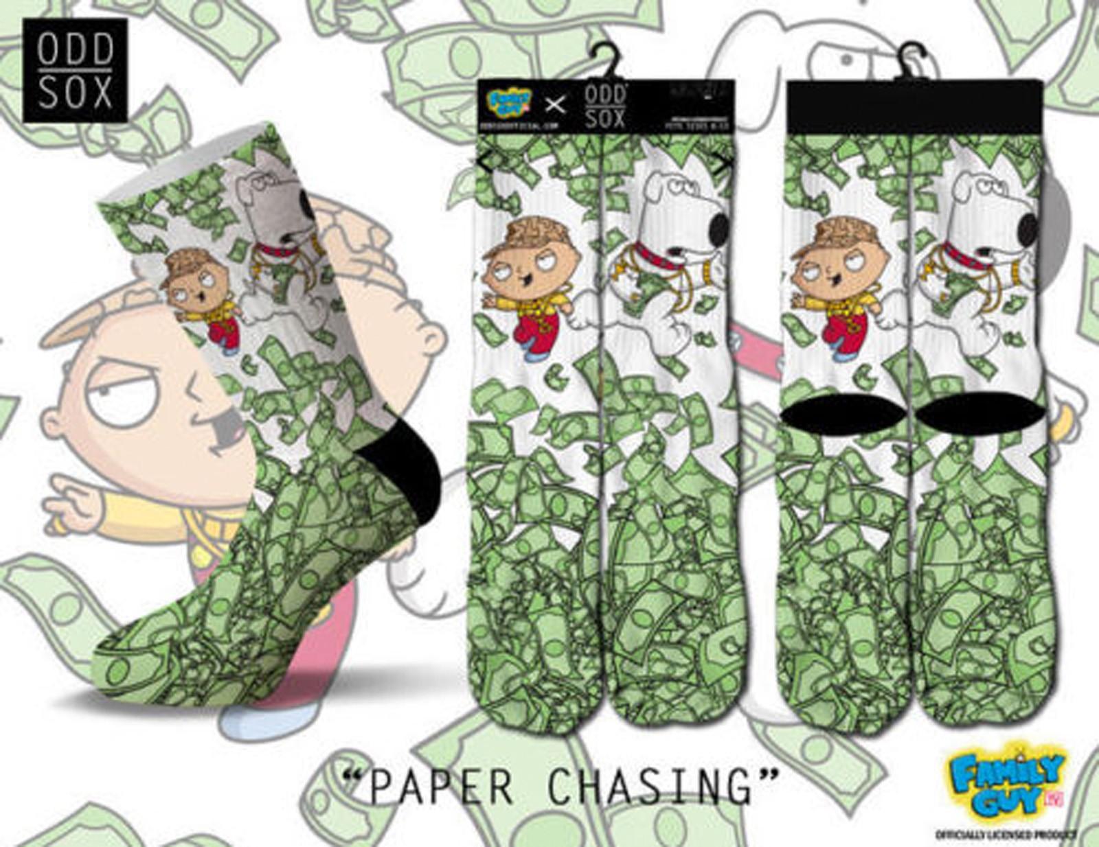 ODD Sox - Family Guy Edition Paper Chasing Socken