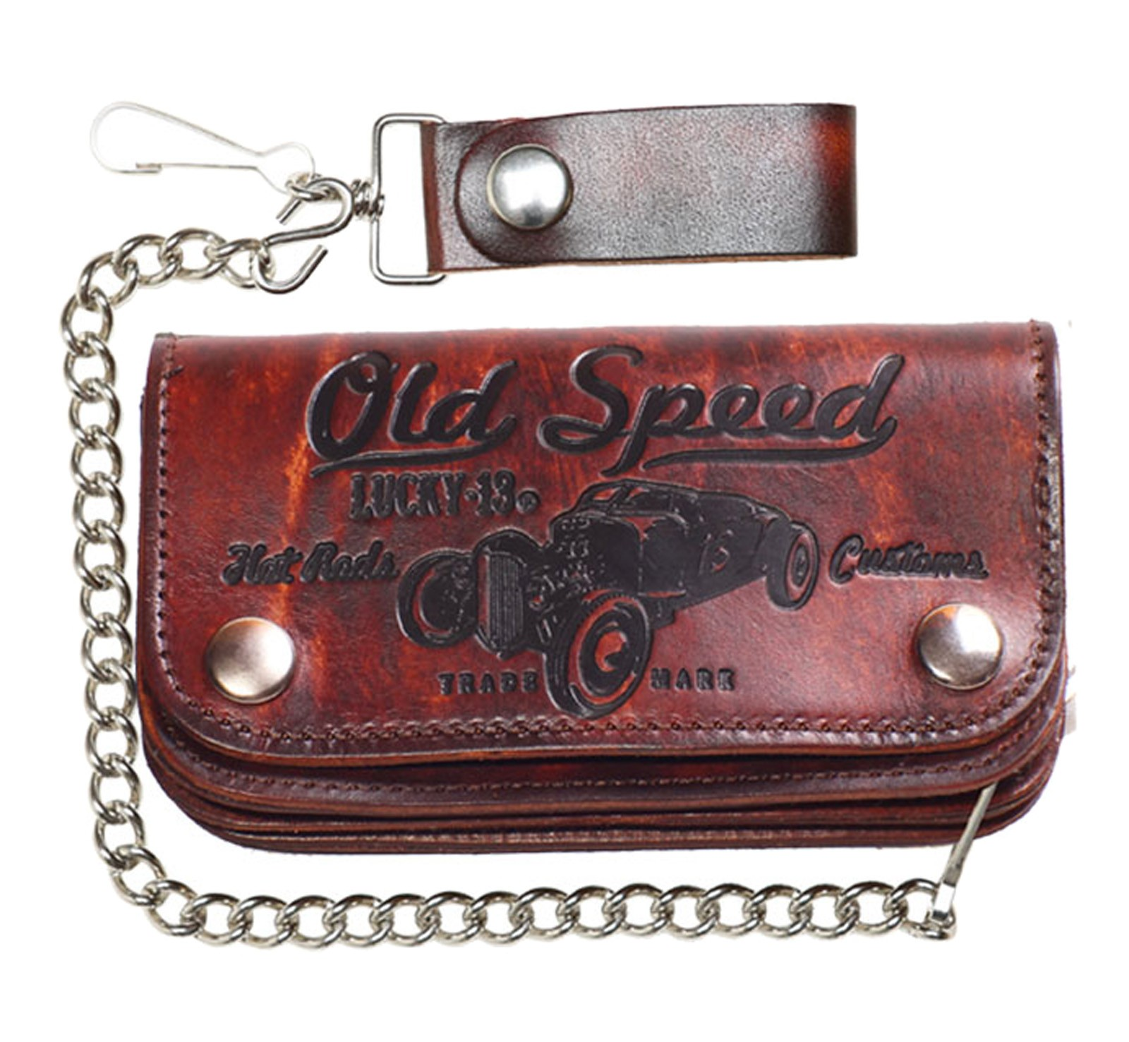 Lucky 13 - Garage Built Leather Wallet-Old Speed