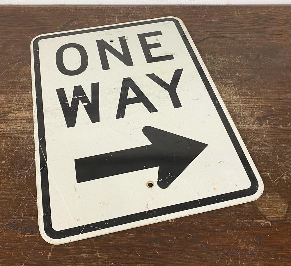 Original USA Schild - One Way Verkehrsschild