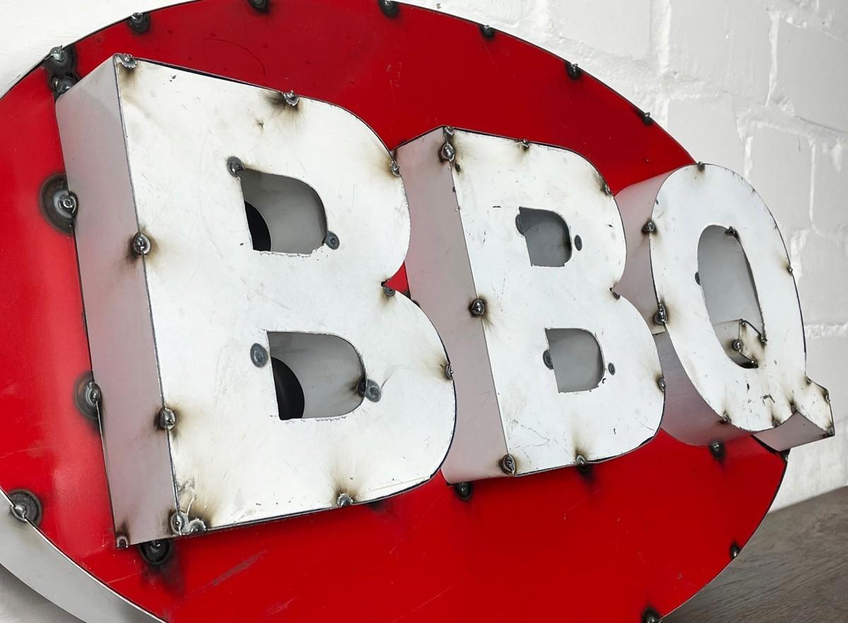 Oval BBQ XXL 3D Schild