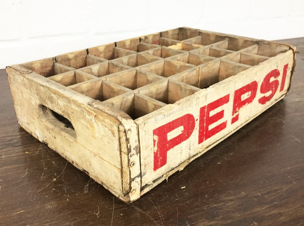 Original Soda Crate - Pepsi Cola White Getränkekiste
