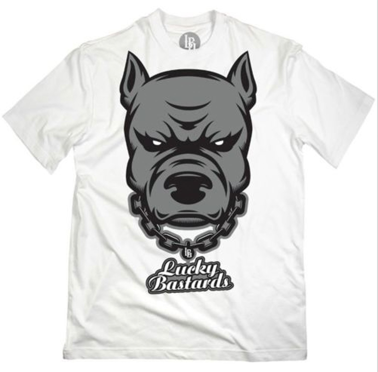 Lucky Bastards - Pit Bull/Respect T-Shirt Front