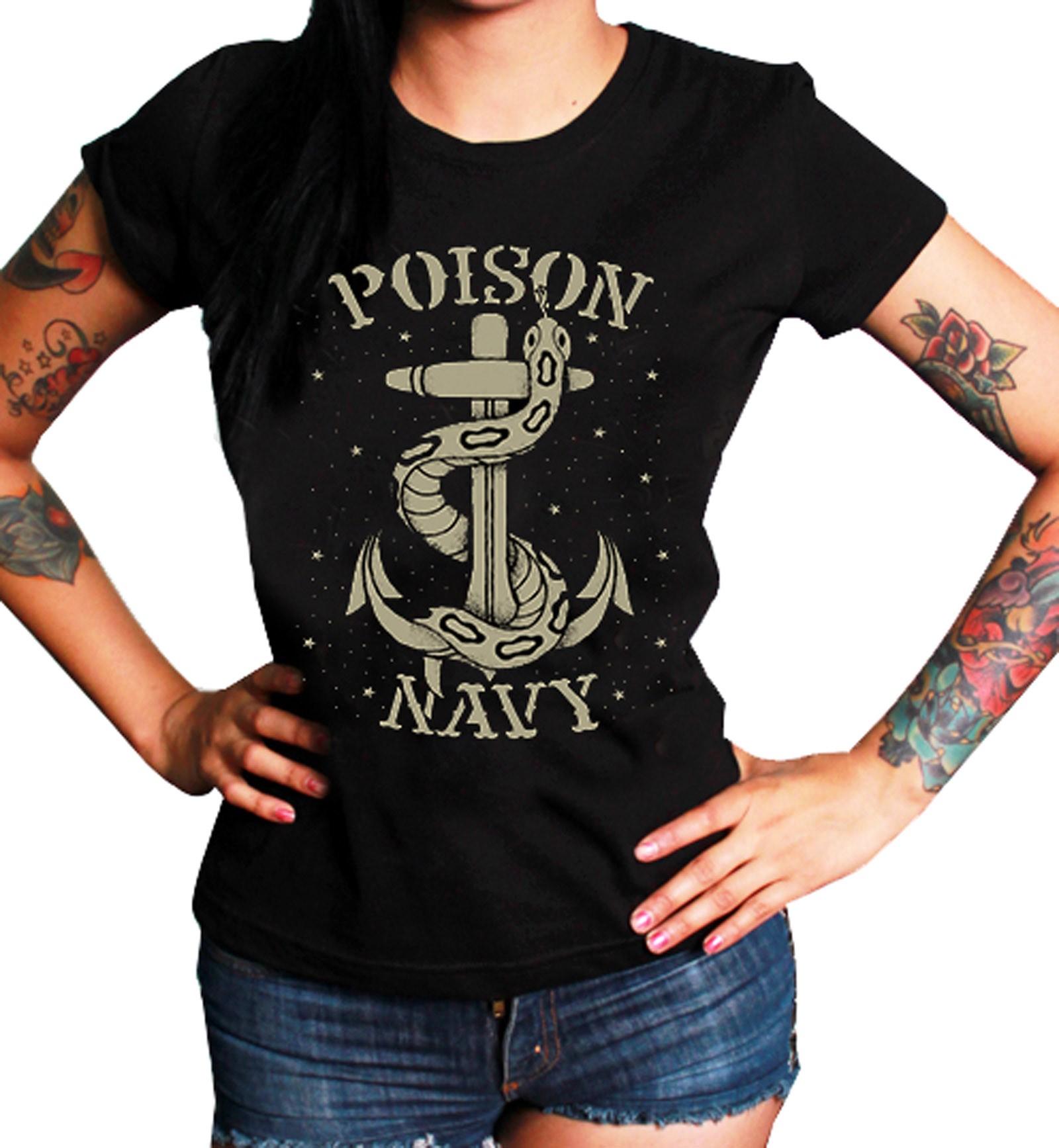 La Marca Del Diablo - Poison Navy T-Shirt Front
