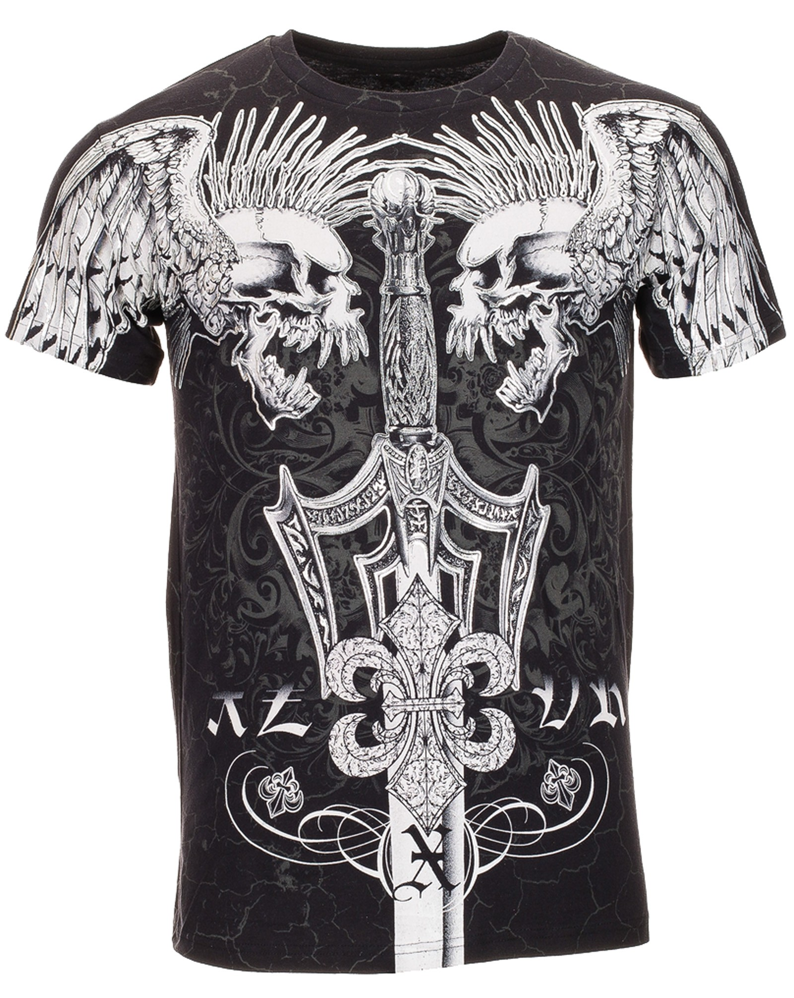 Xzavier - Screaming Punk Skulls T-Shirt Front