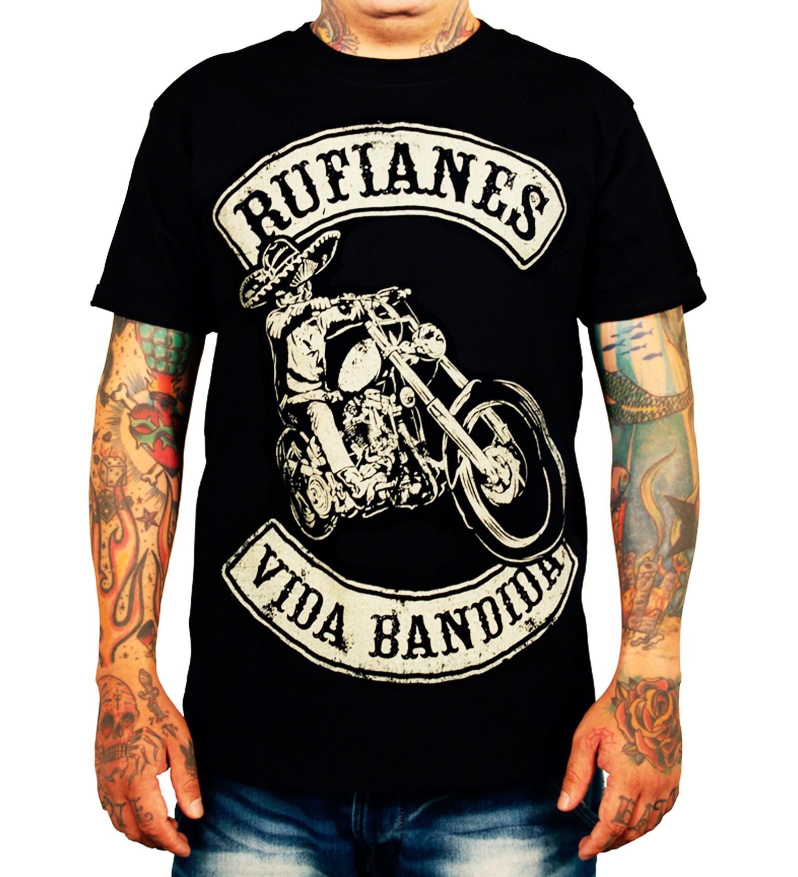 La Marca Del Diablo - Rufianes Vida Bandida T-Shirt Front