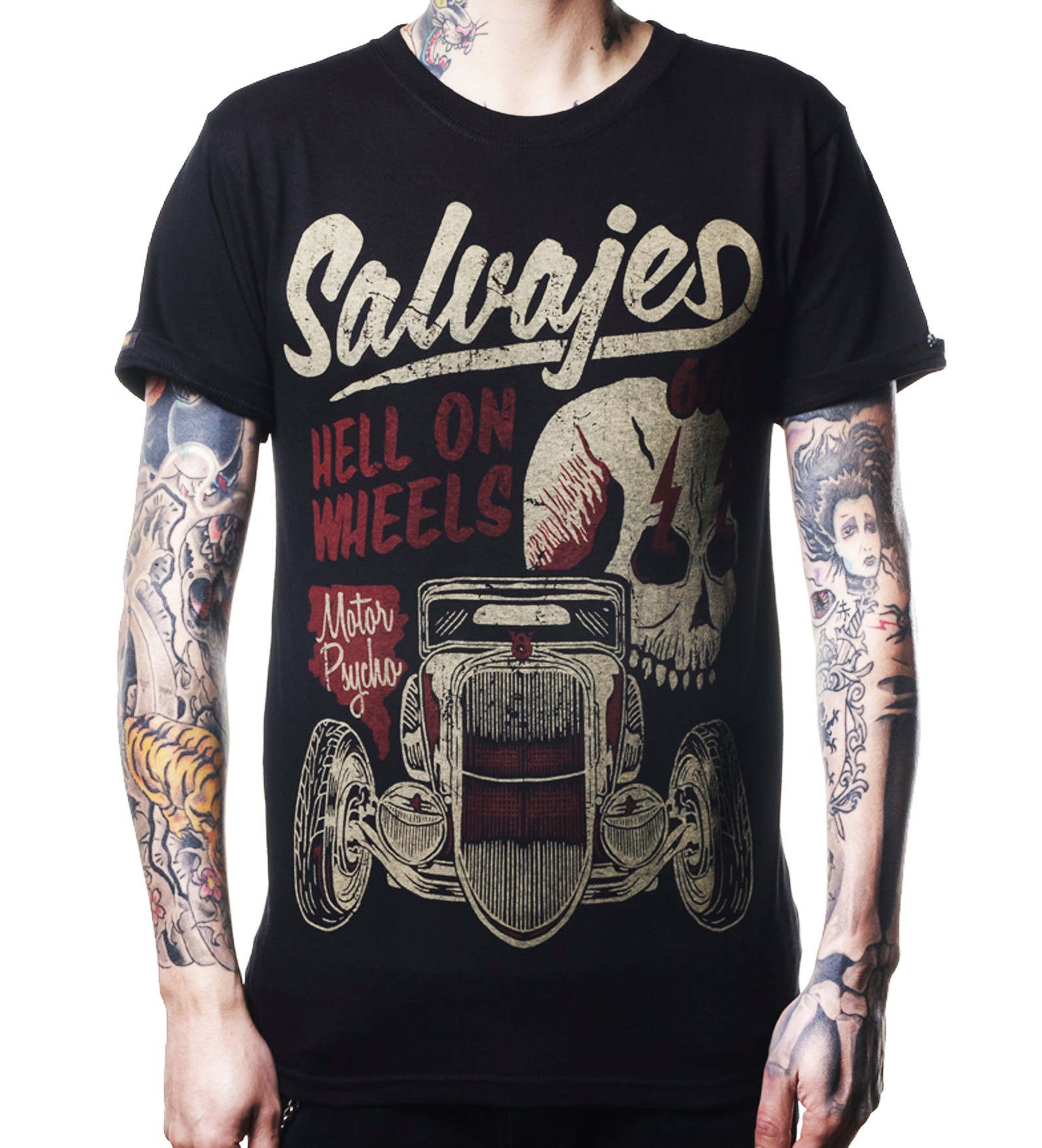 La Marca Del Diablo - Salvajes Hell on Wheels T-Shirt Front