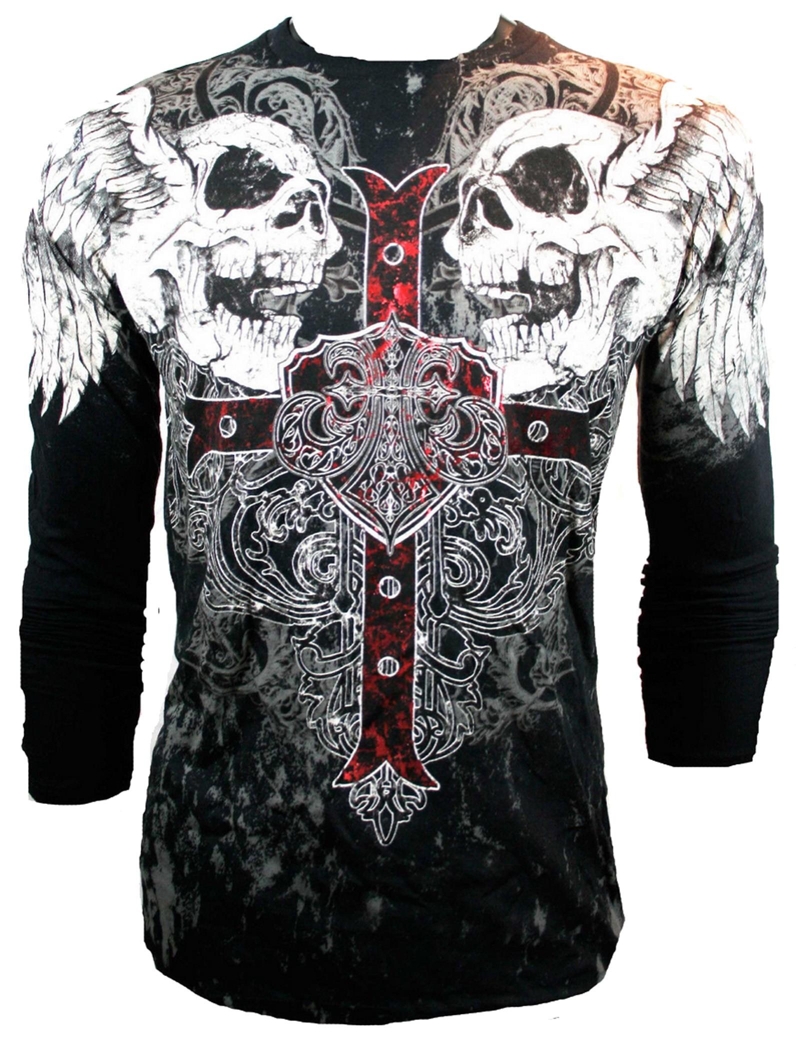 Xzavier - Screaming Skulls Longsleeve T-Shirt
