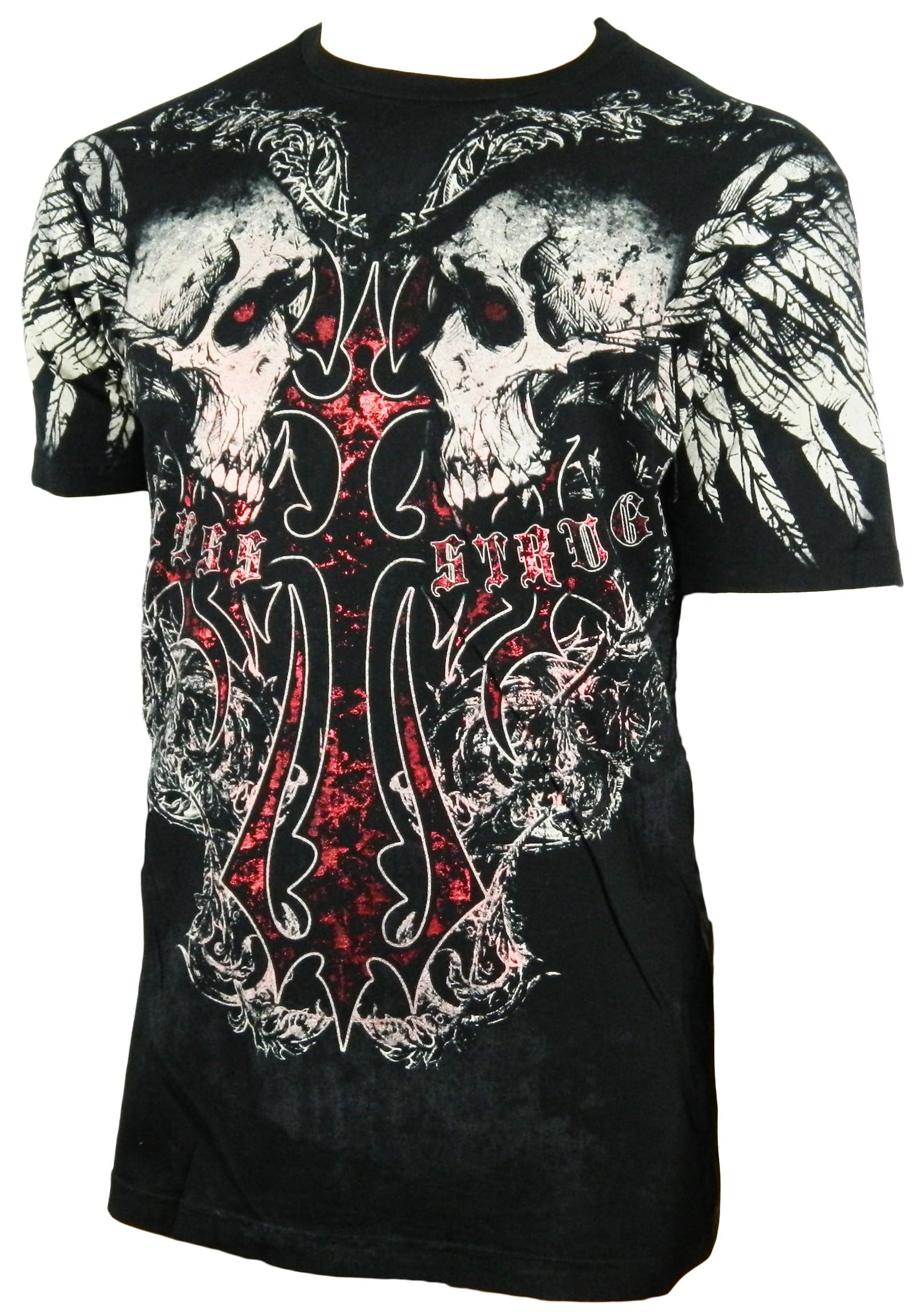Xzavier - Cross my Bones Skulls T-Shirt Front