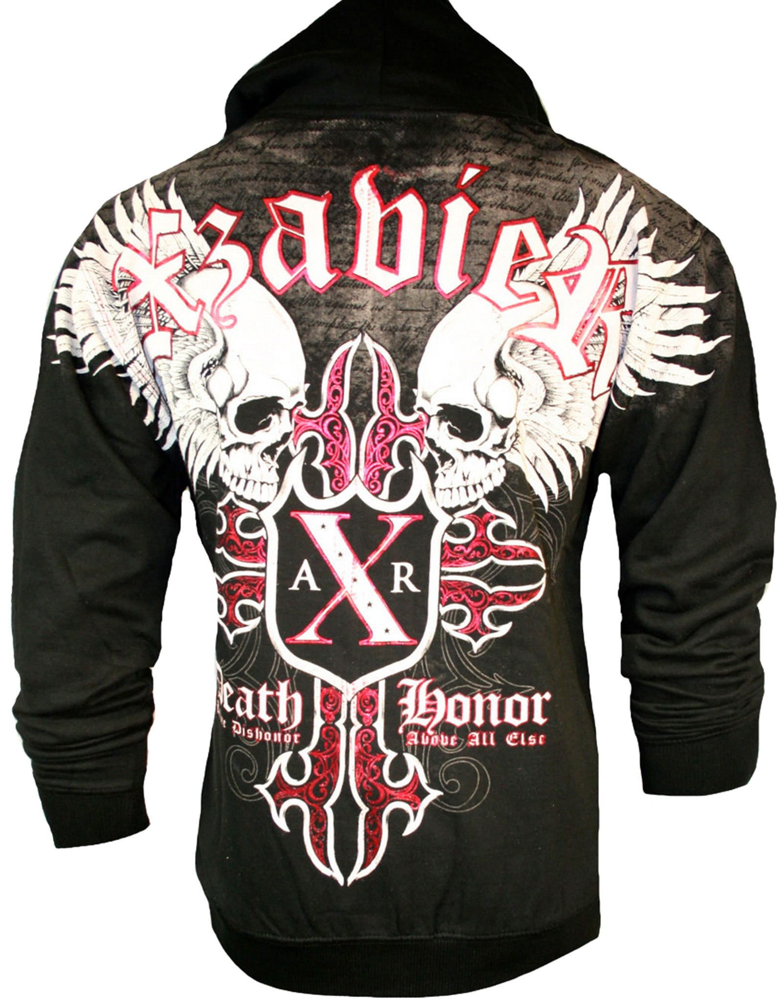 Xzavier - Skull Slayer Zipper Hoodie Back