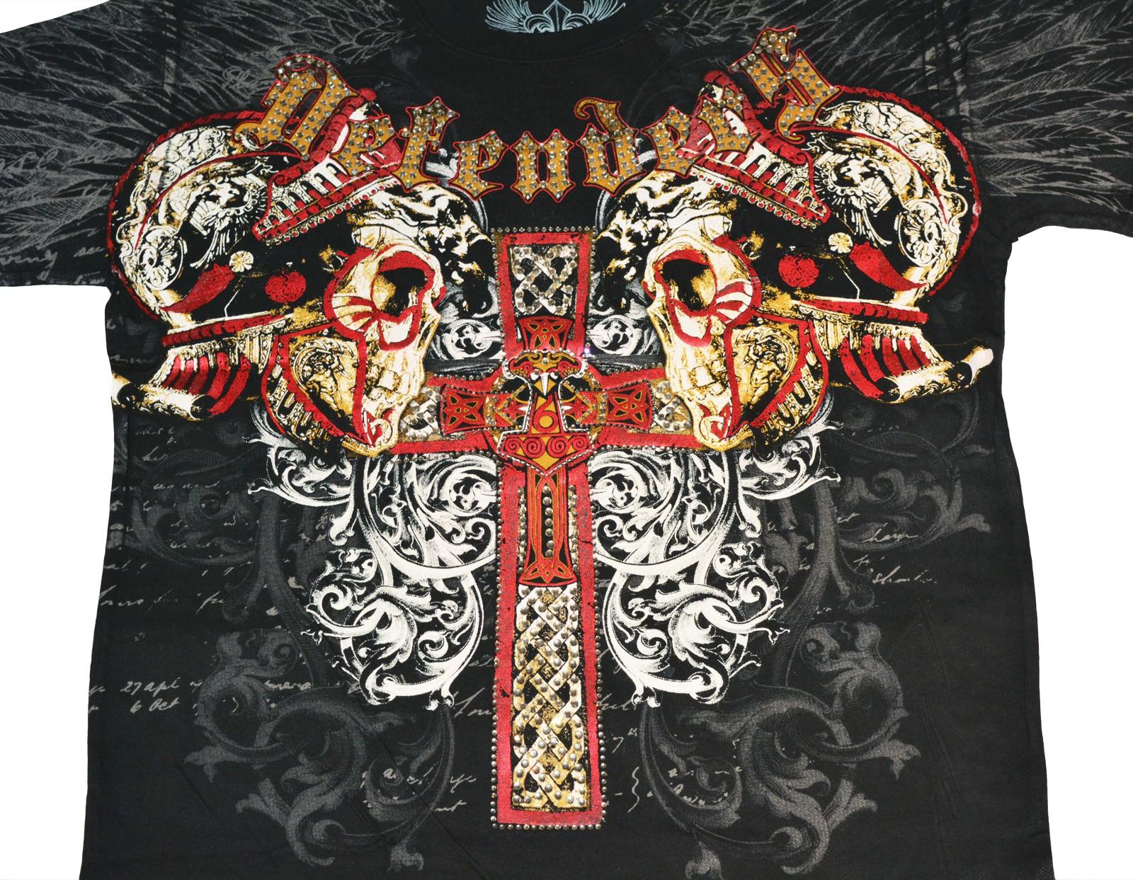 Xzavier - Defenders Rhinestones/Strass T-Shirt Detail