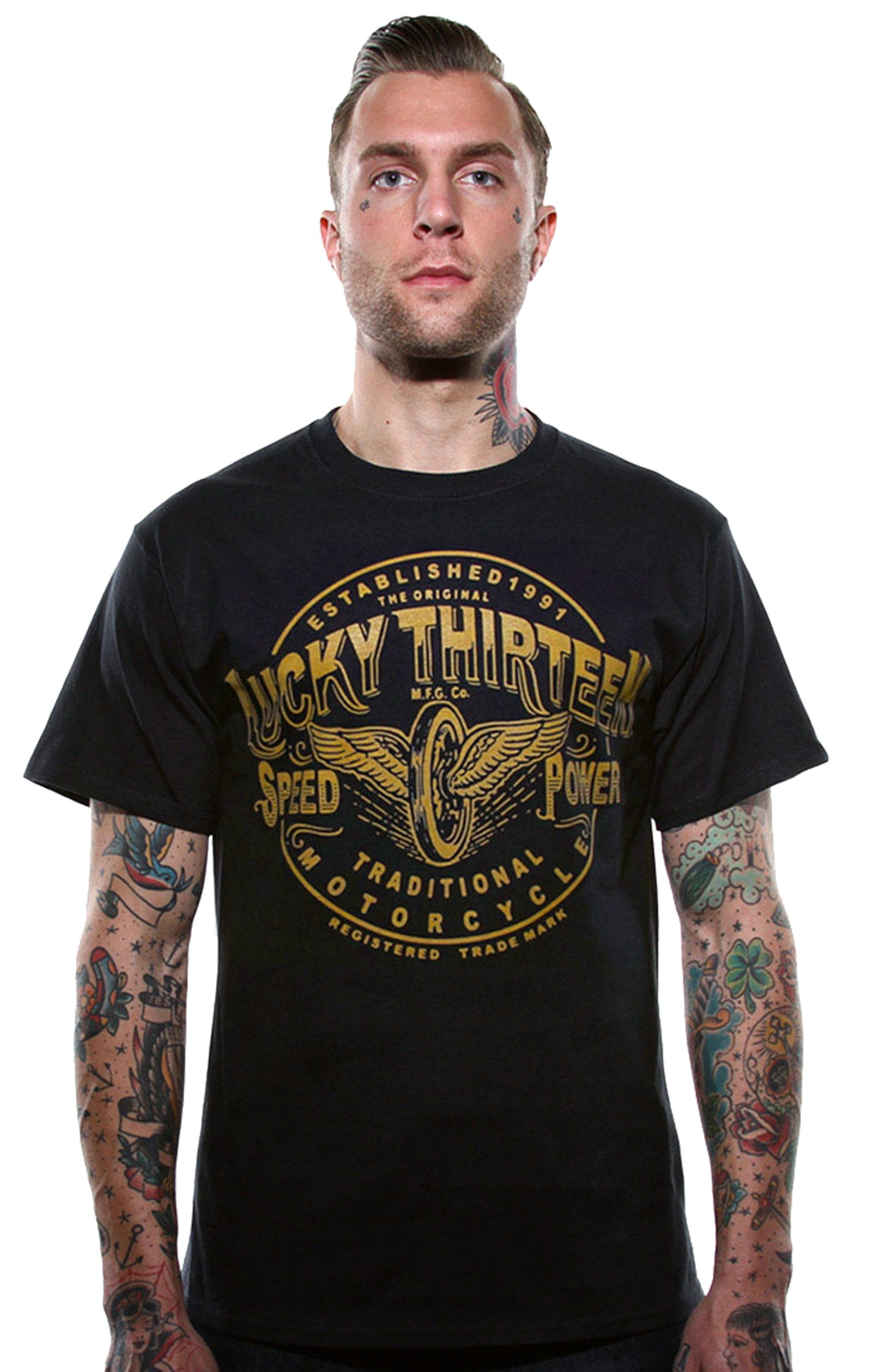 Lucky 13 - Traditional Speed T-Shirt Front
